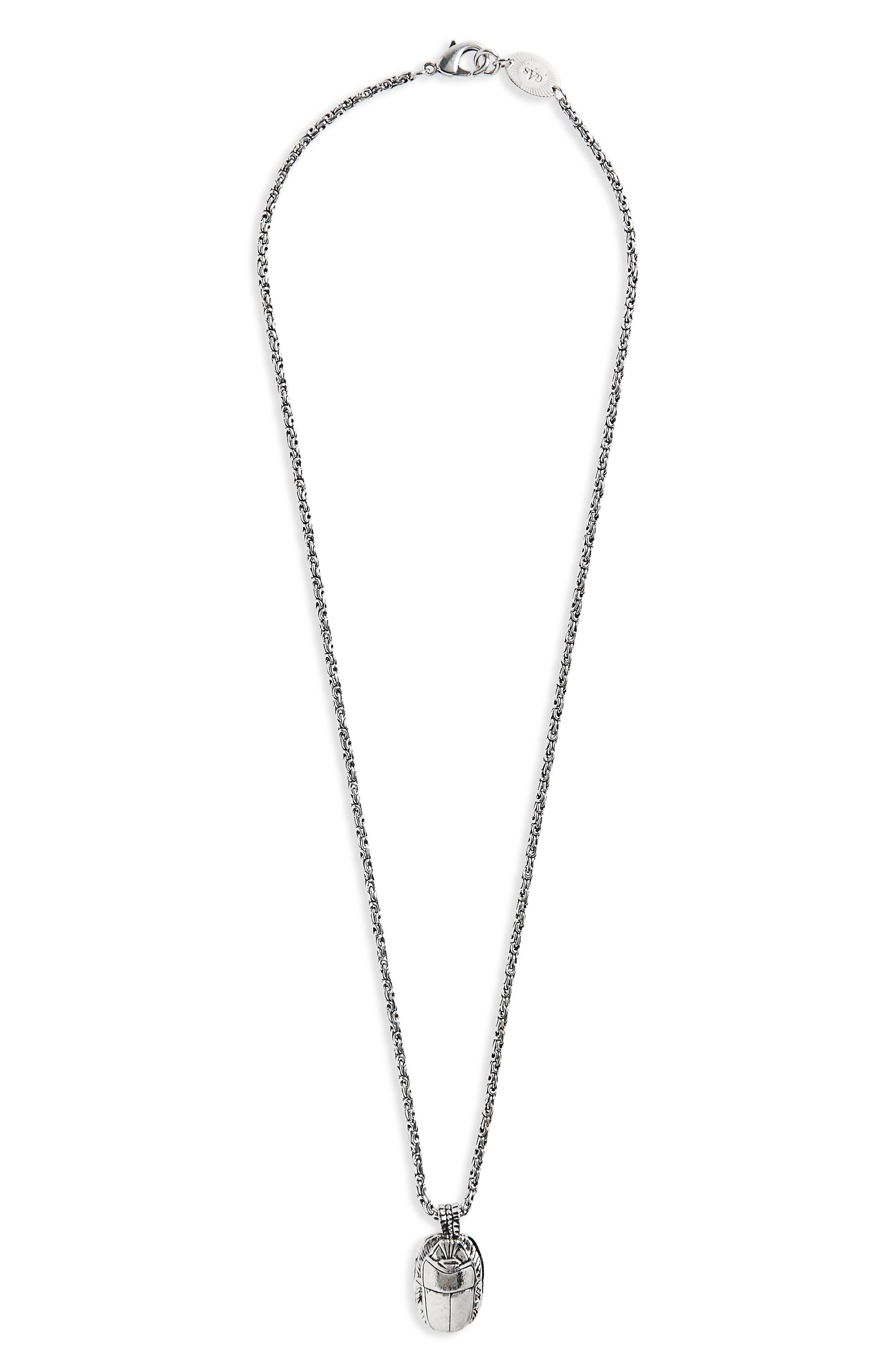 Scrabee Pendant Necklace,                         Main,                         color, Silver