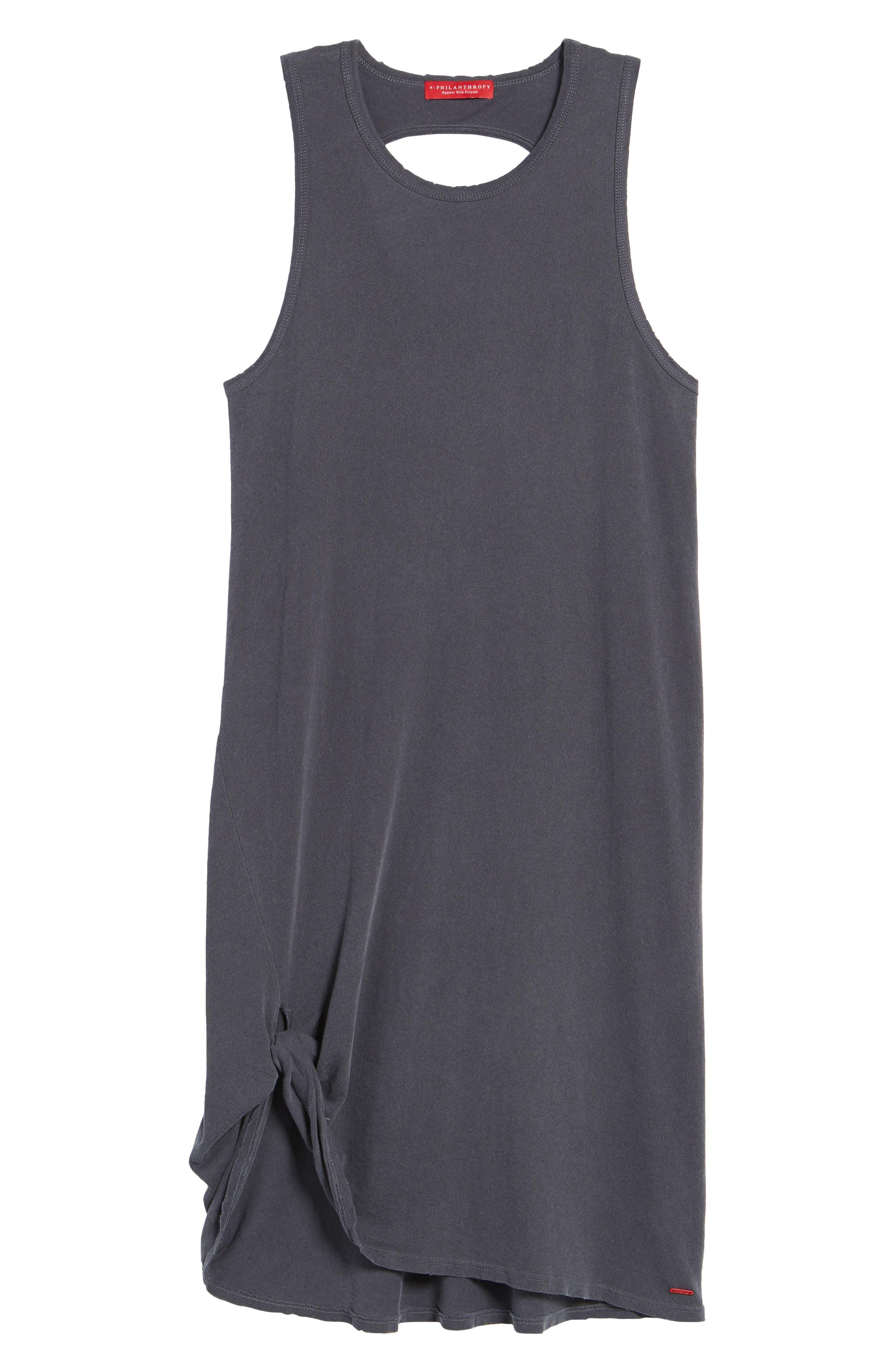 Boo Jersey Tank Dress,                             Alternate thumbnail 6, color,                             Asphalt
