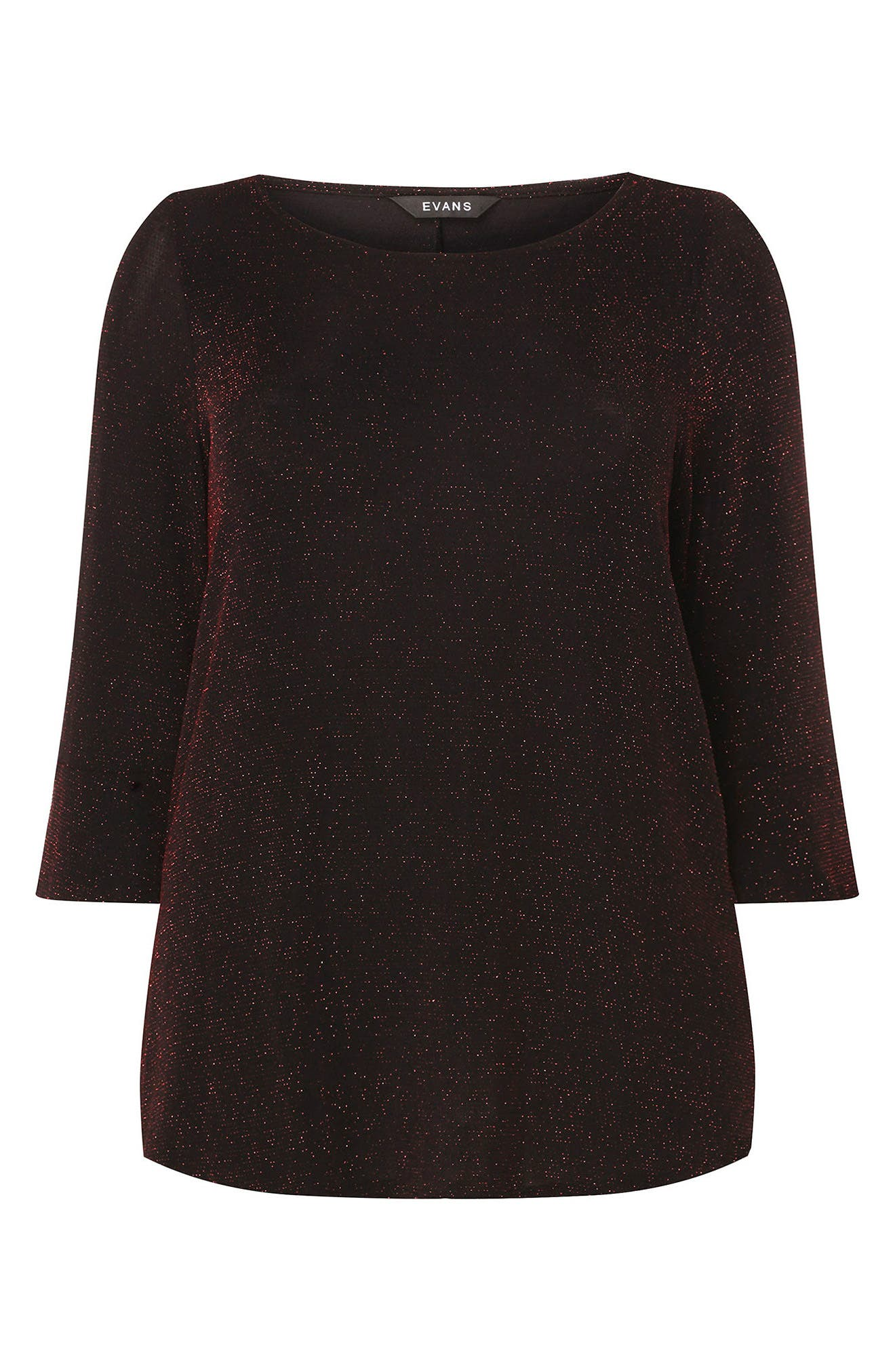 Glitter Bell Sleeve Top,                             Alternate thumbnail 5, color,                             Red