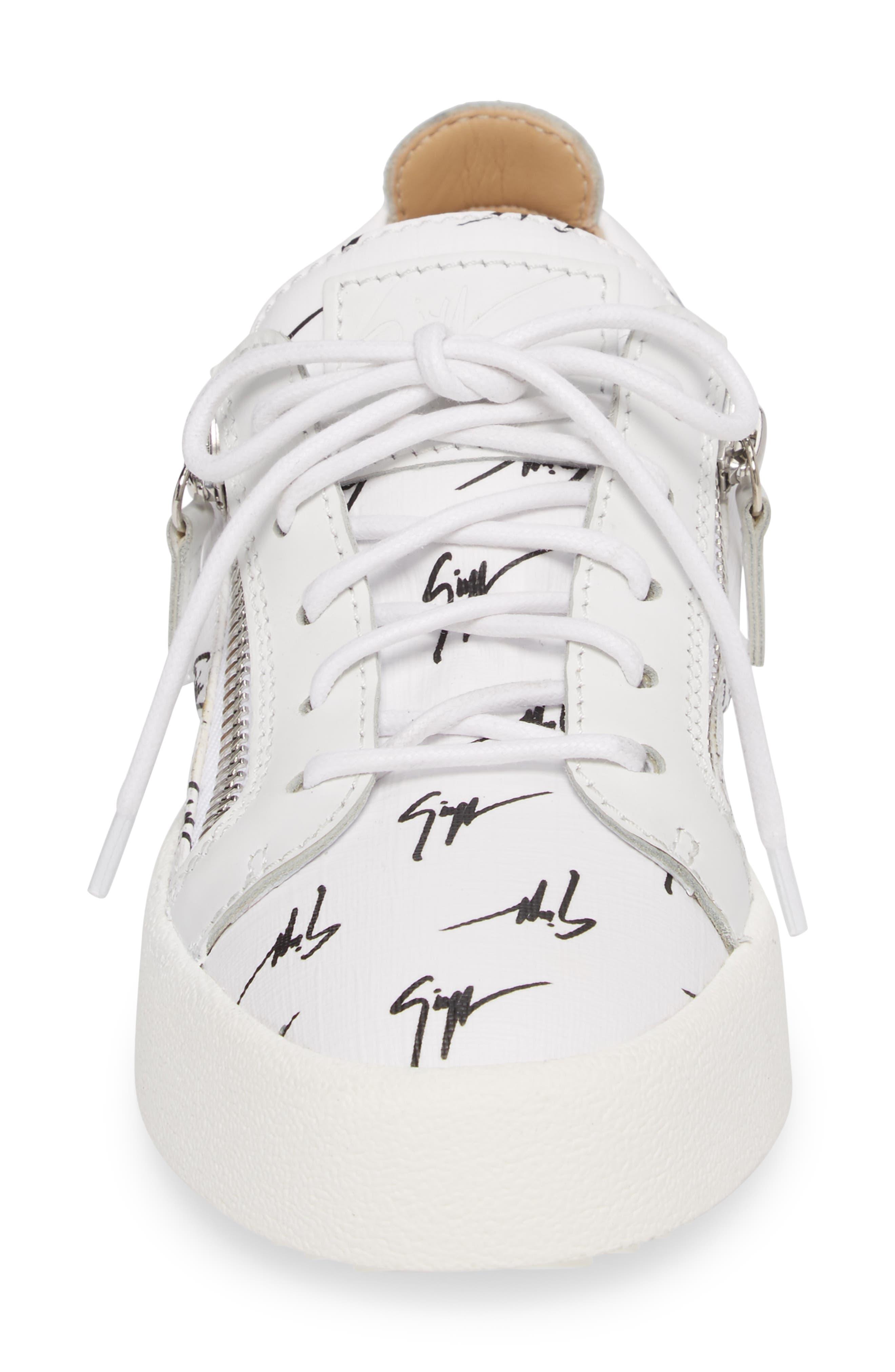 Maylondon Logo Sneaker,                             Alternate thumbnail 4, color,                             White/ Black