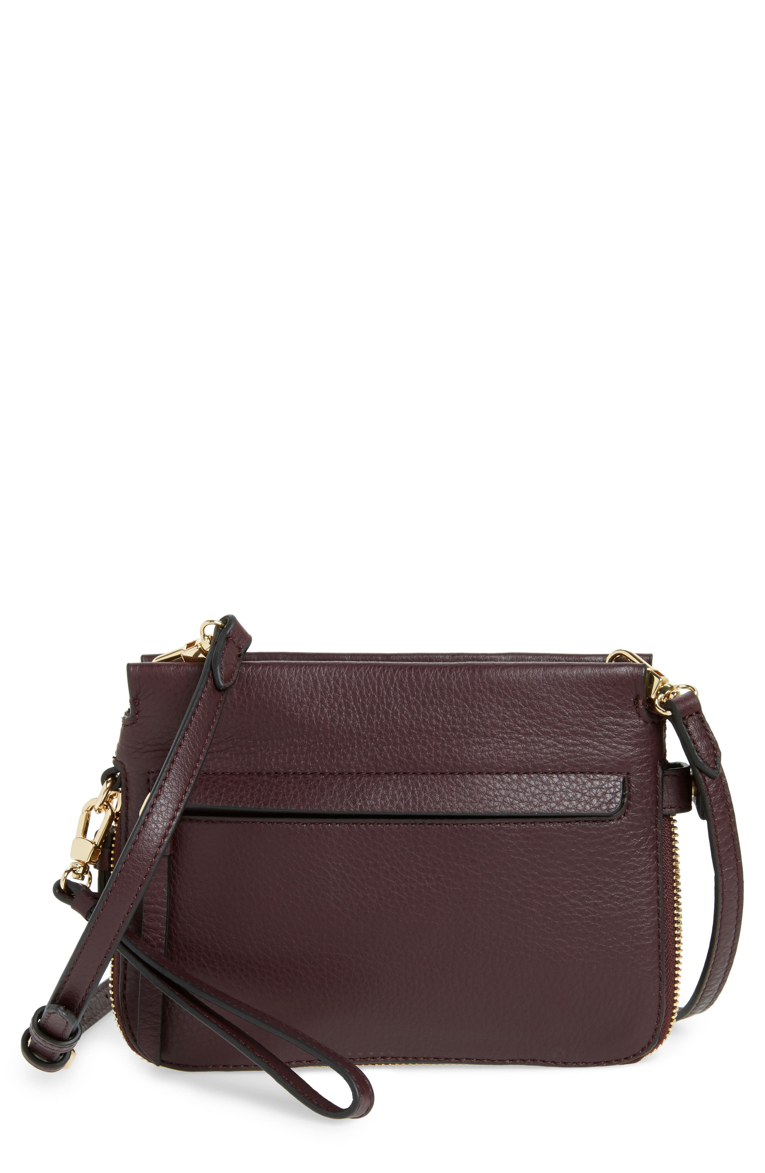 Vince Camuto Small Edsel Leather Crossbody Bag