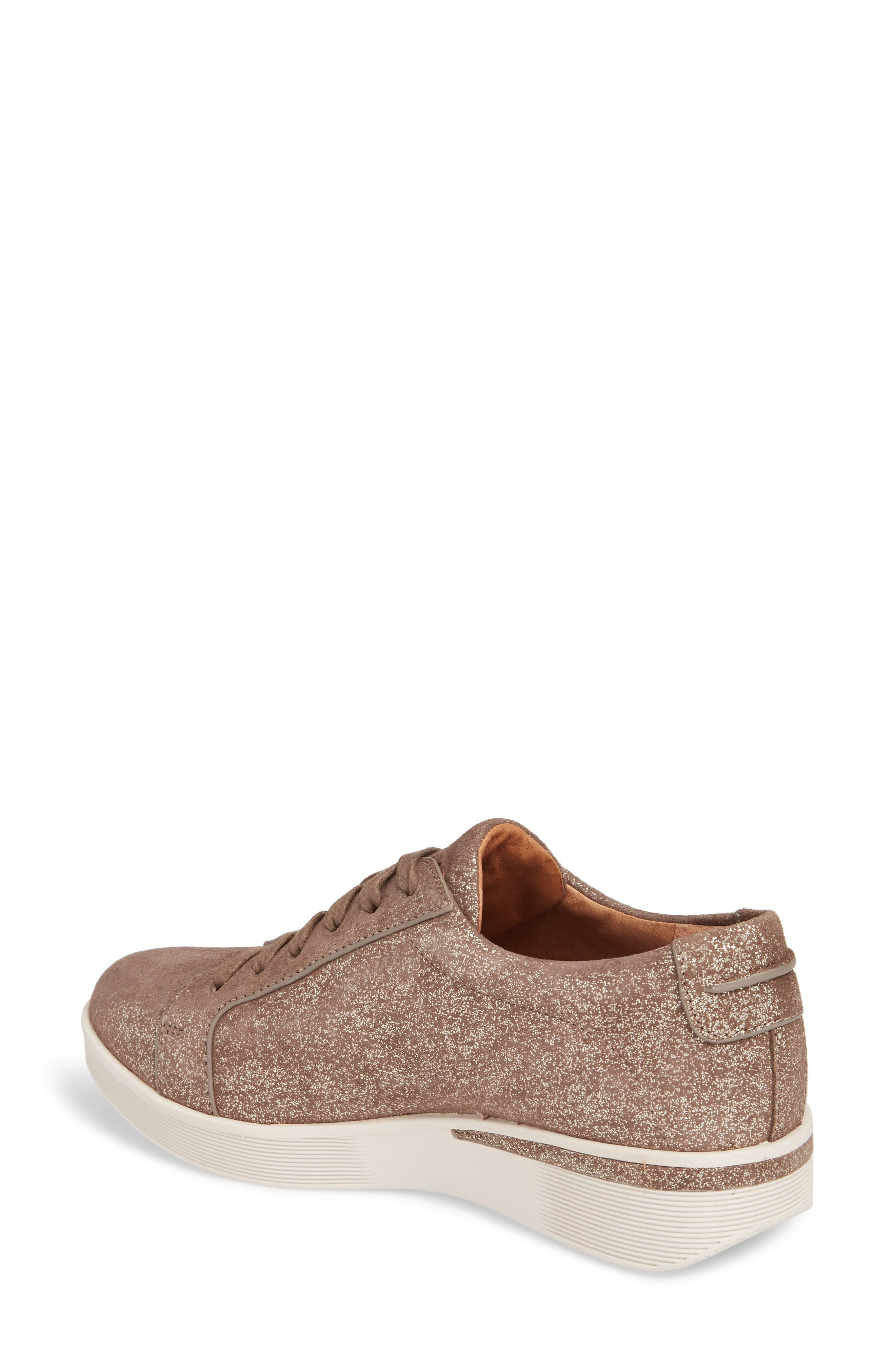 by Kenneth Cole Haddie Low Platform Sneaker,                             Alternate thumbnail 2, color,                             Cocoa Metallic Leather