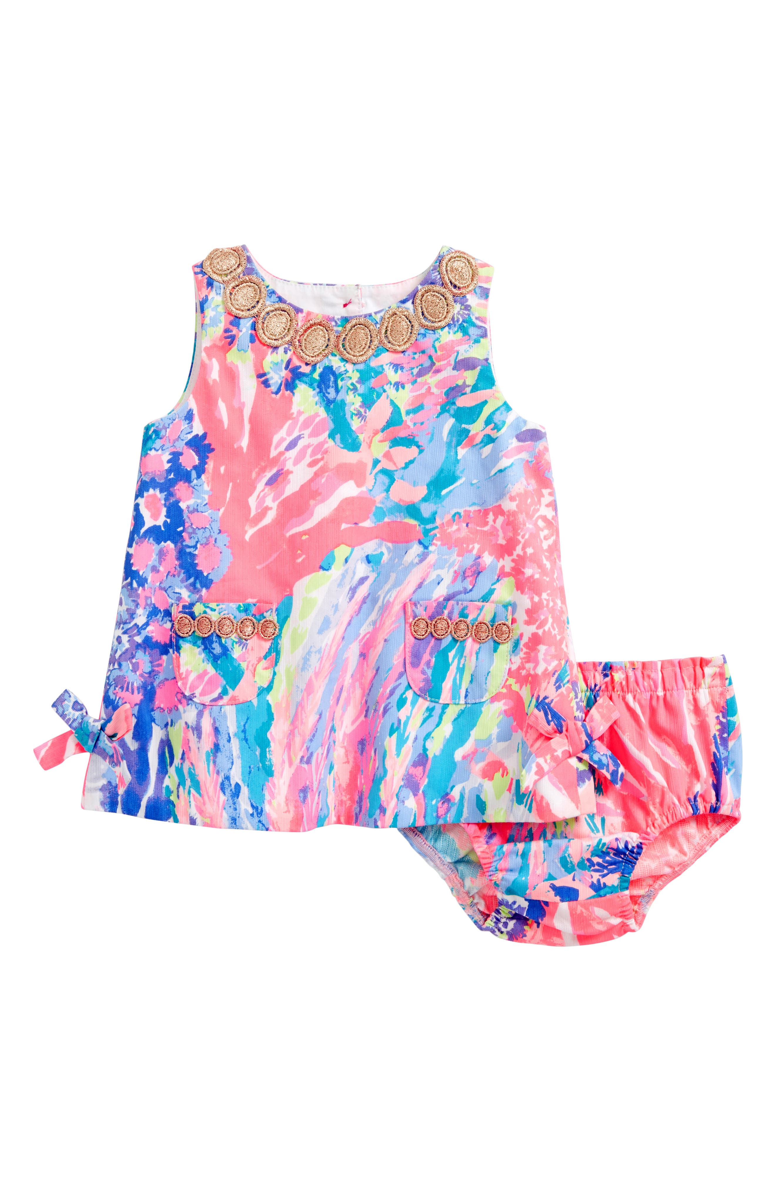 Baby Lilly Shift Dress,                         Main,                         color, Multi Rainbow Soleil