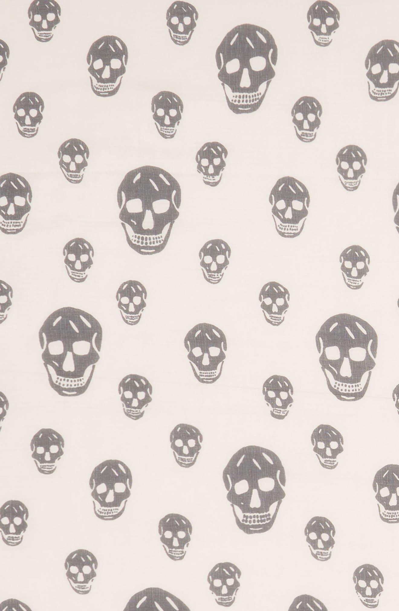 Alternate Image 3  - Alexander McQueen Skull Foulard Silk Scarf