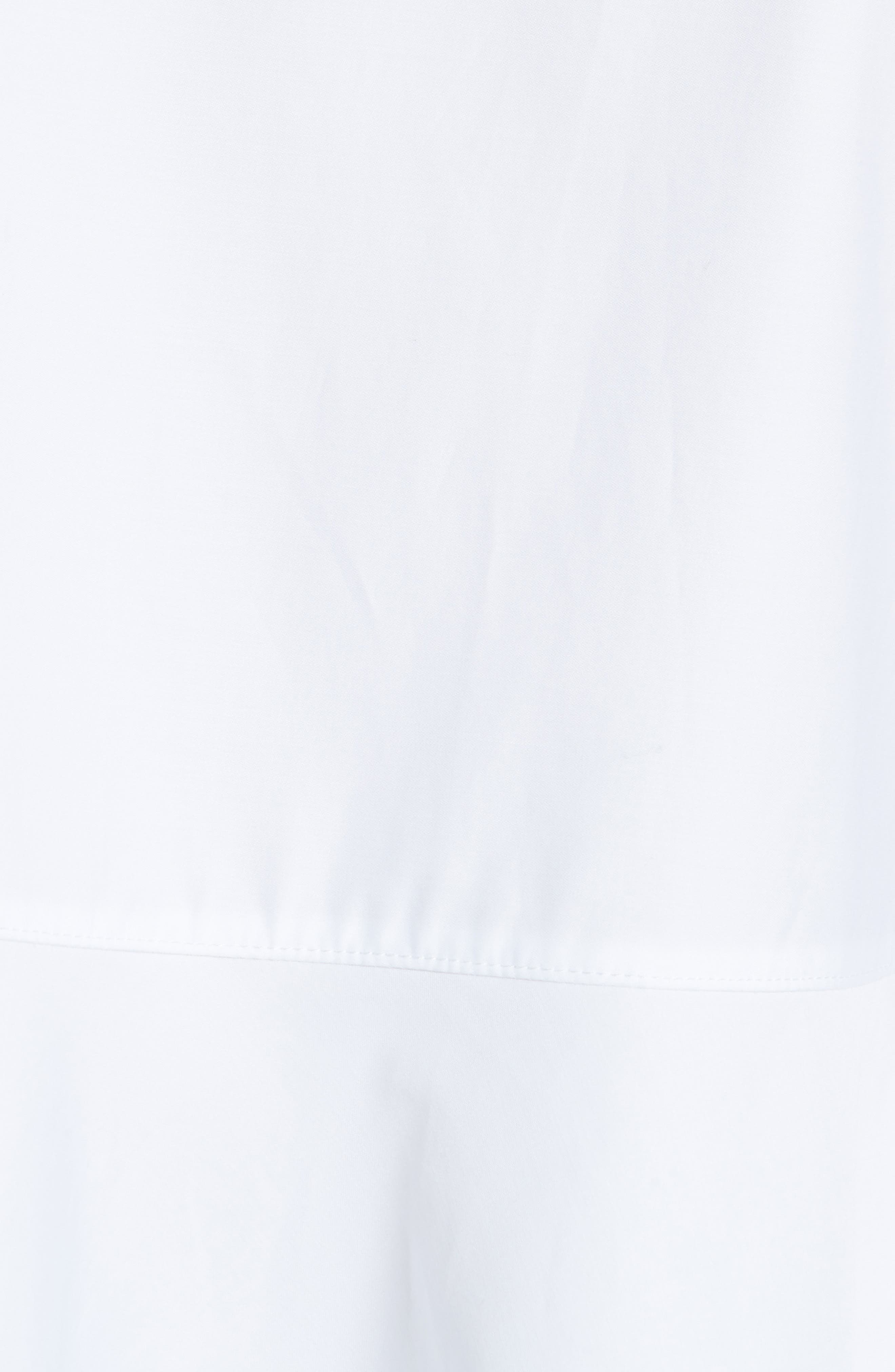 Flare Poplin Top,                             Alternate thumbnail 6, color,                             White