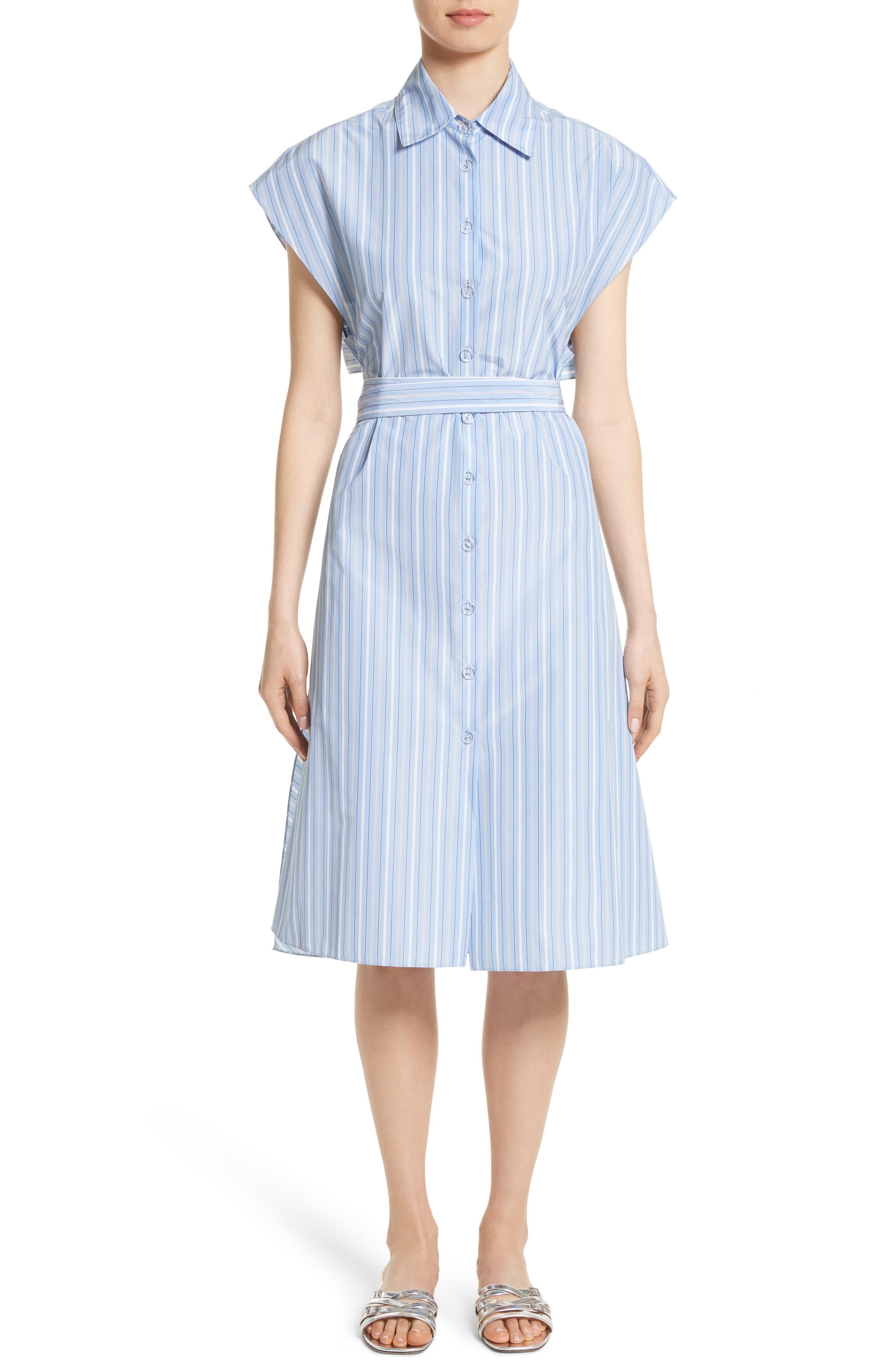Rosetta Getty Stripe Shirtdress