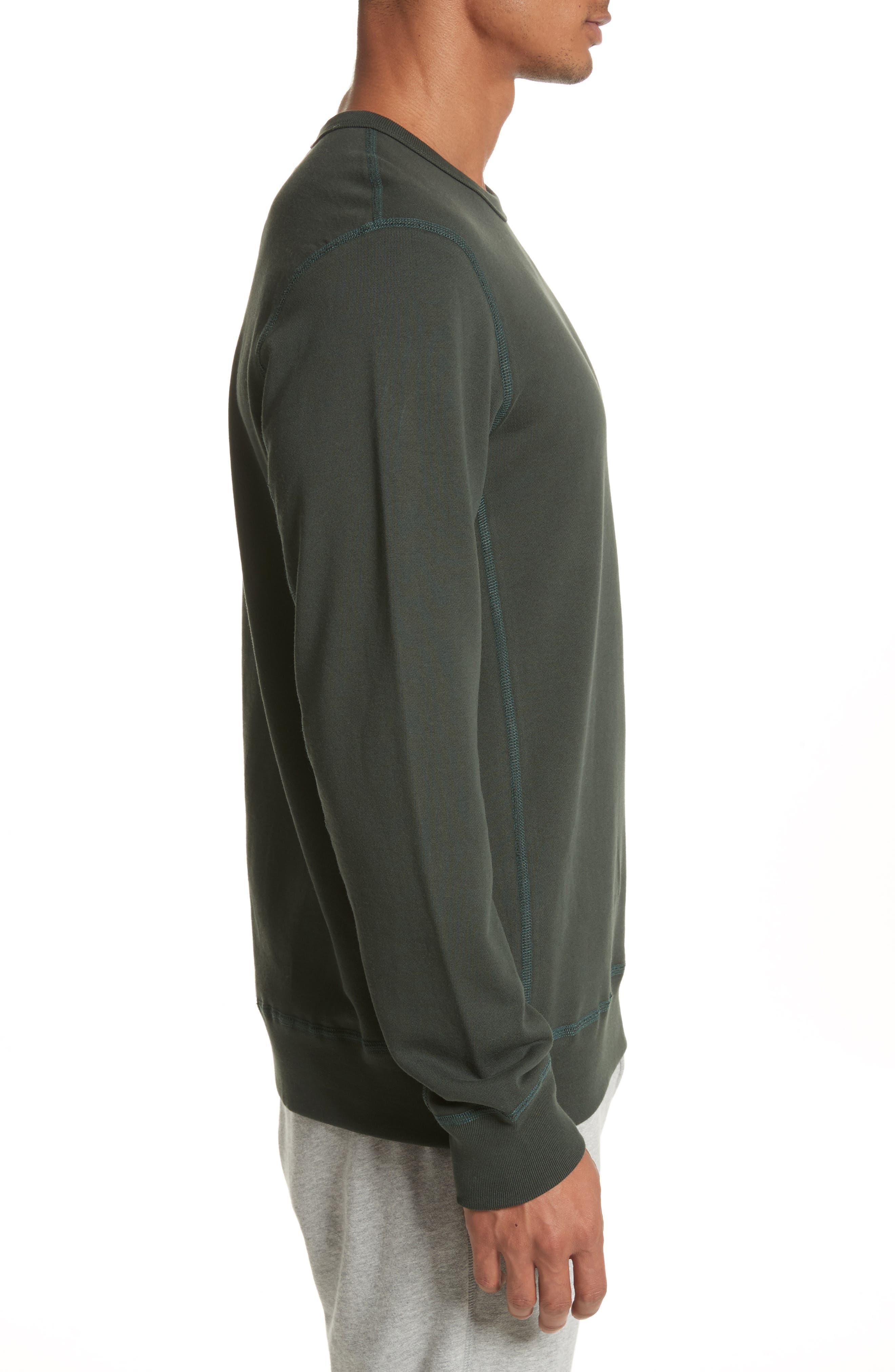 Crewneck Sweatshirt,                             Alternate thumbnail 3, color,                             Jungle Green