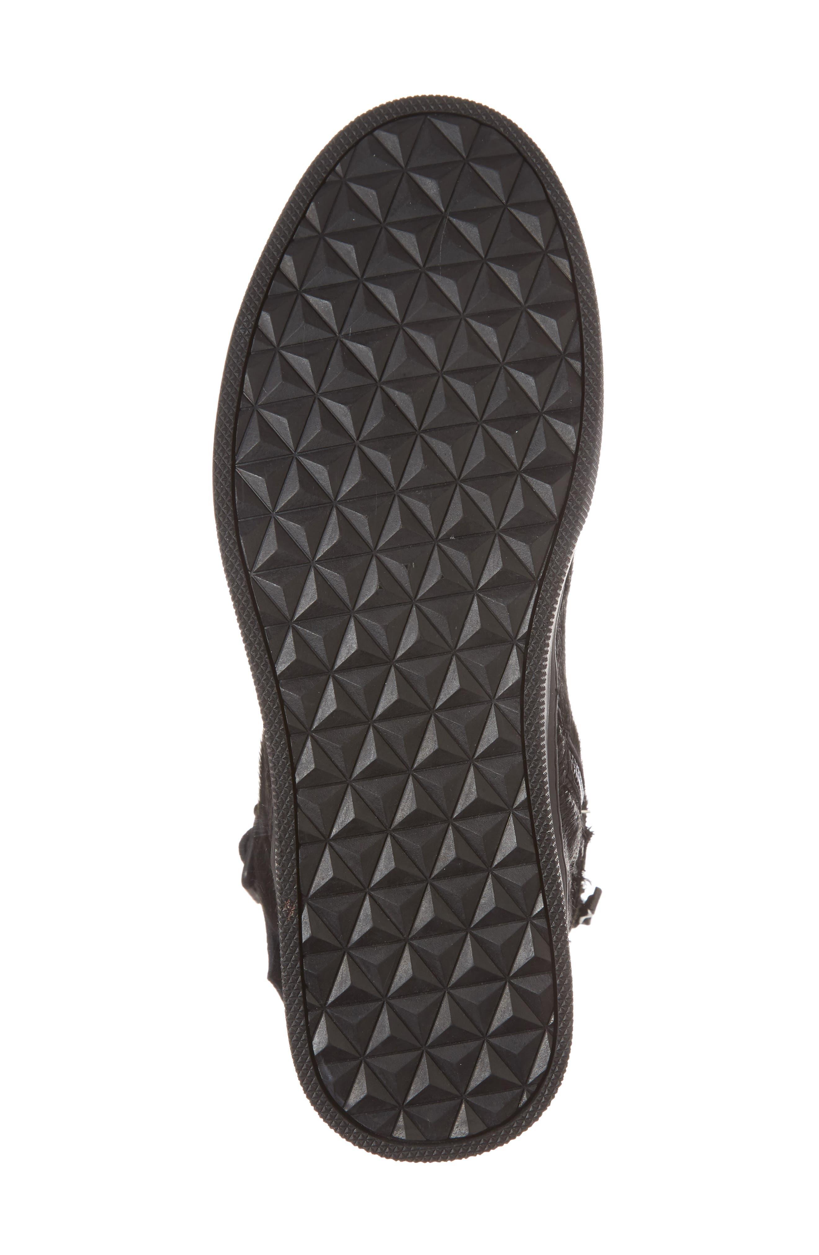 Sullivan Genuine Calf Hair High Top Sneaker,                             Alternate thumbnail 6, color,                             Black Fur Leather