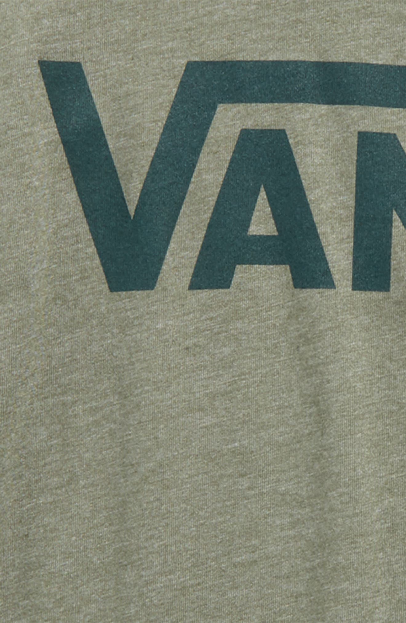 'Classic' Logo Raglan Sleeve T-Shirt,                             Alternate thumbnail 2, color,                             Olive Heather/ Vans Scarab