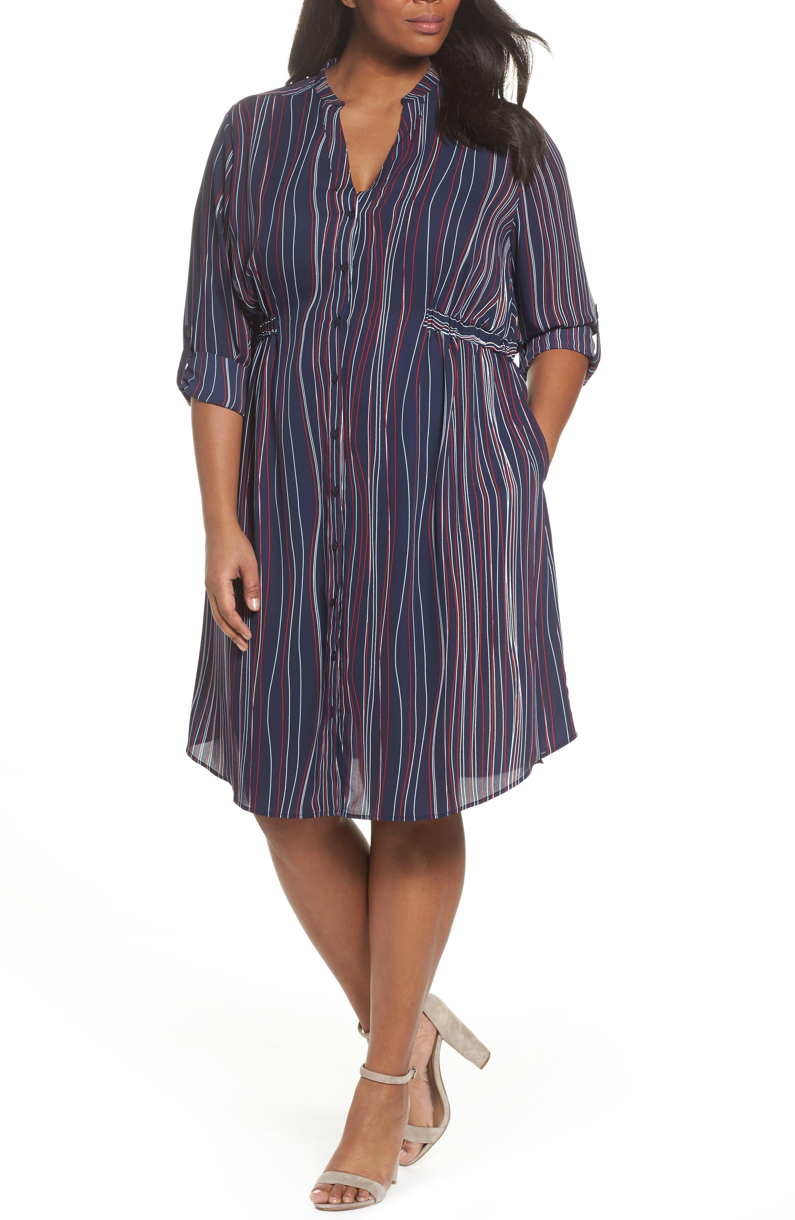 Sejour Split Neck Dress (Plus Size)