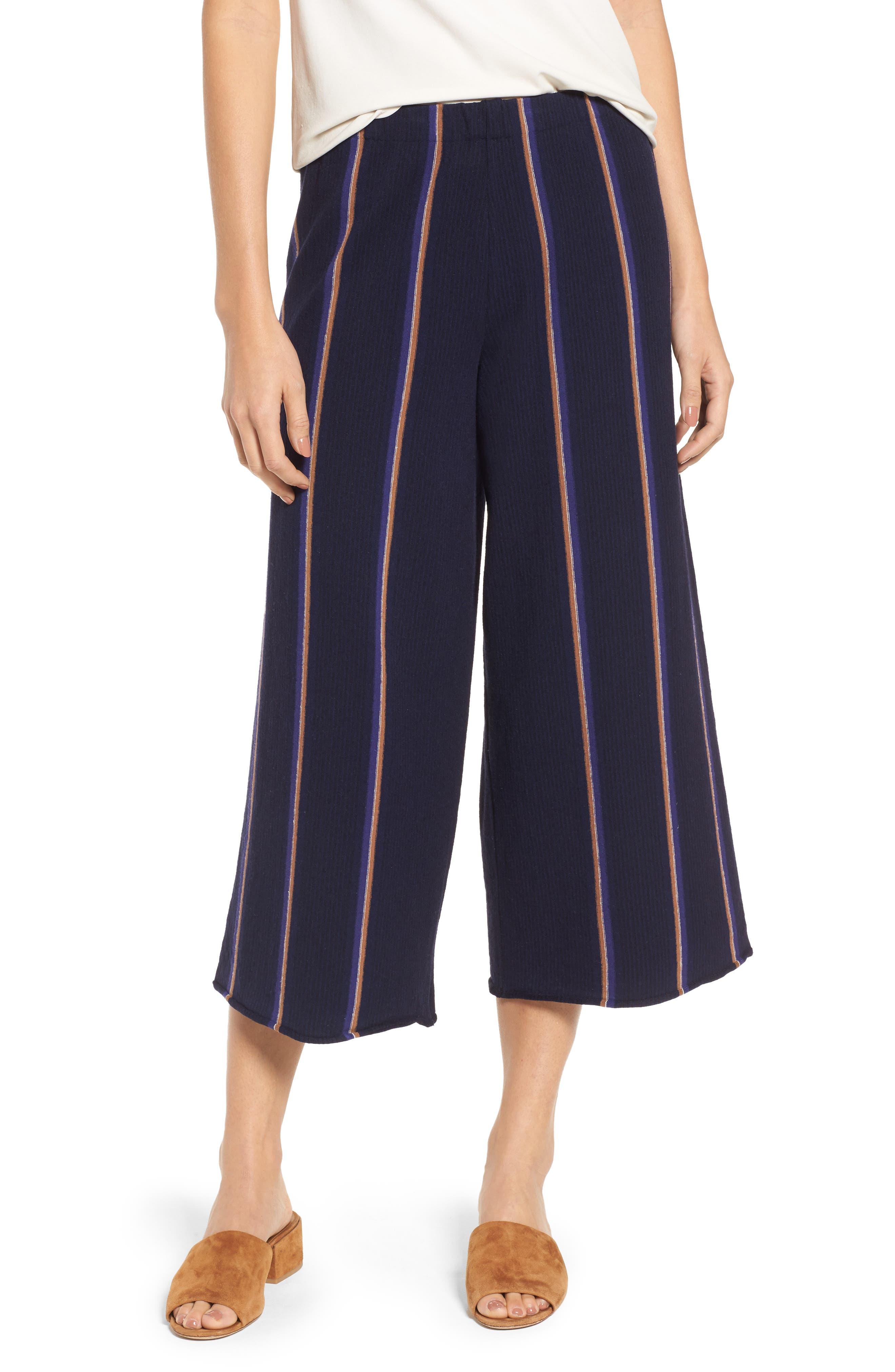 Lined Up Knit Pants,                             Main thumbnail 1, color,                             Blue Multi