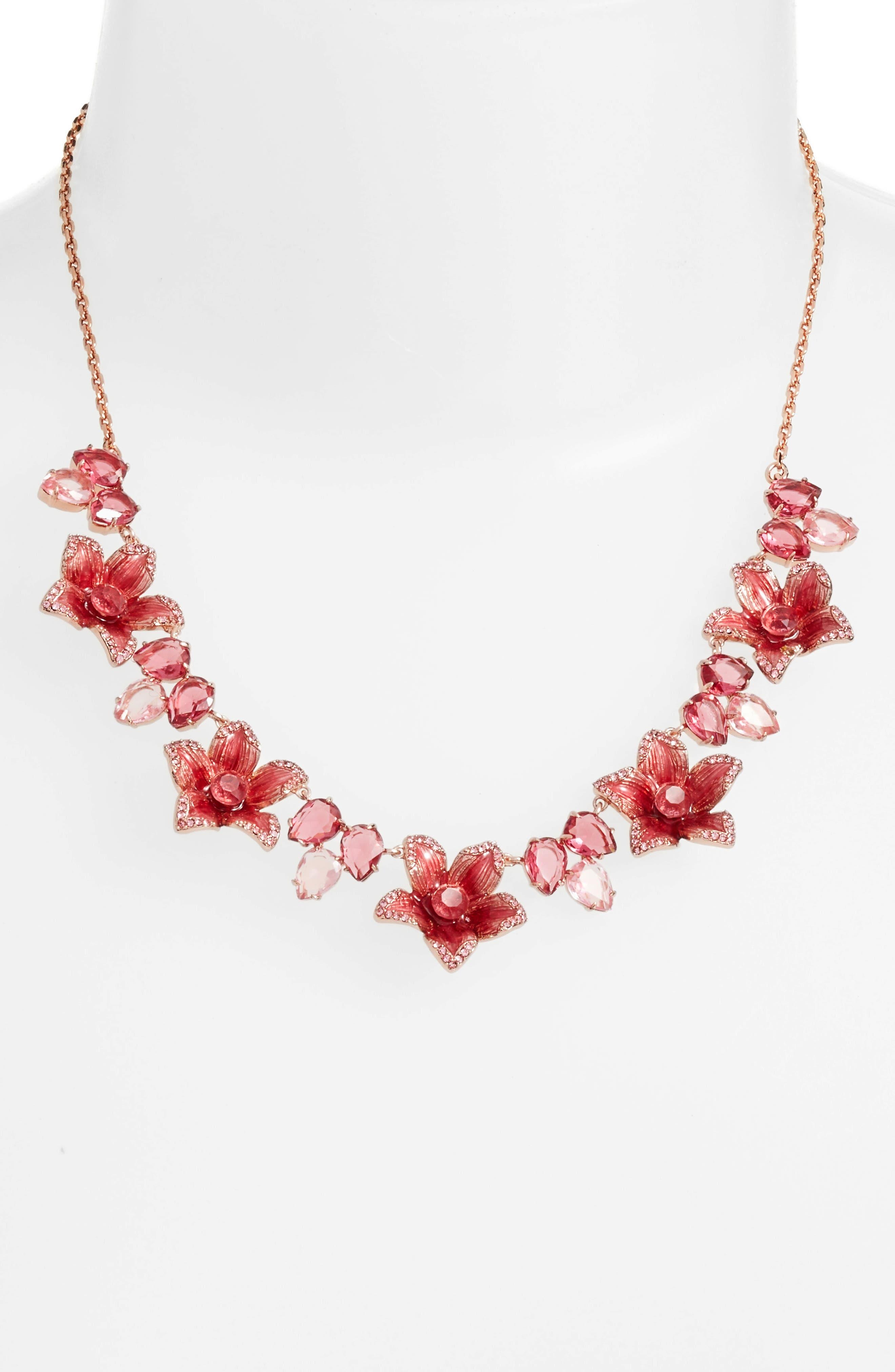 winter garden necklace,                             Alternate thumbnail 2, color,                             Pink Multi