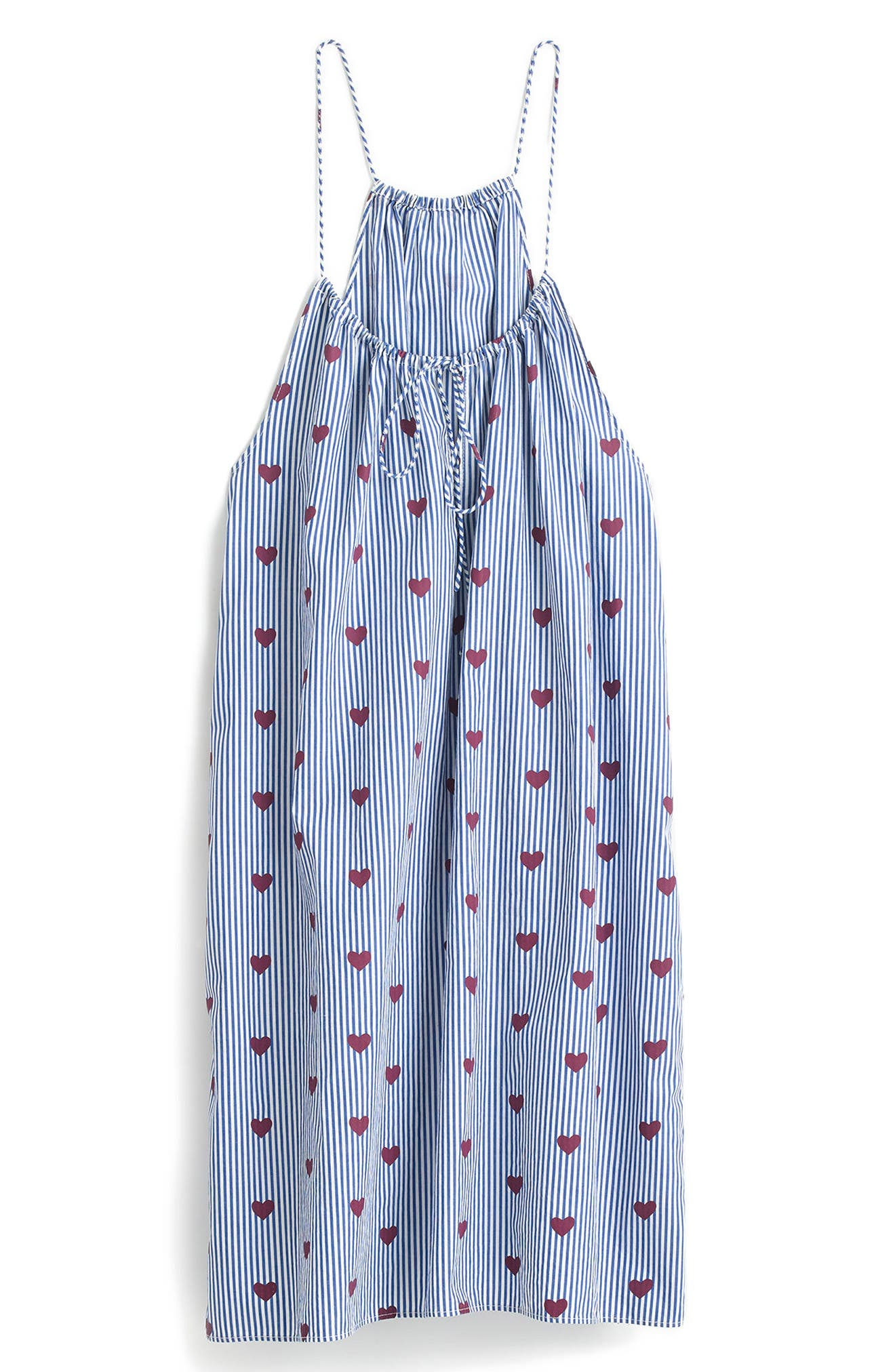 J.Crew Hearts Nightgown,                             Alternate thumbnail 3, color,                             Brilliant Ocean