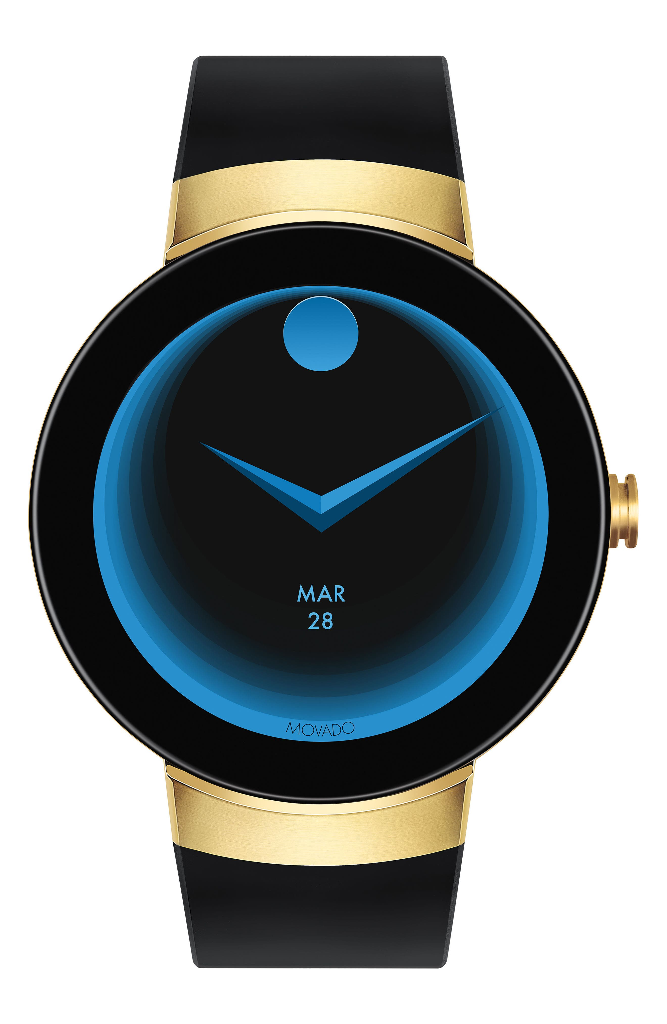 Main Image - Movado Connect Silicone Strap Smart Watch, 46mm