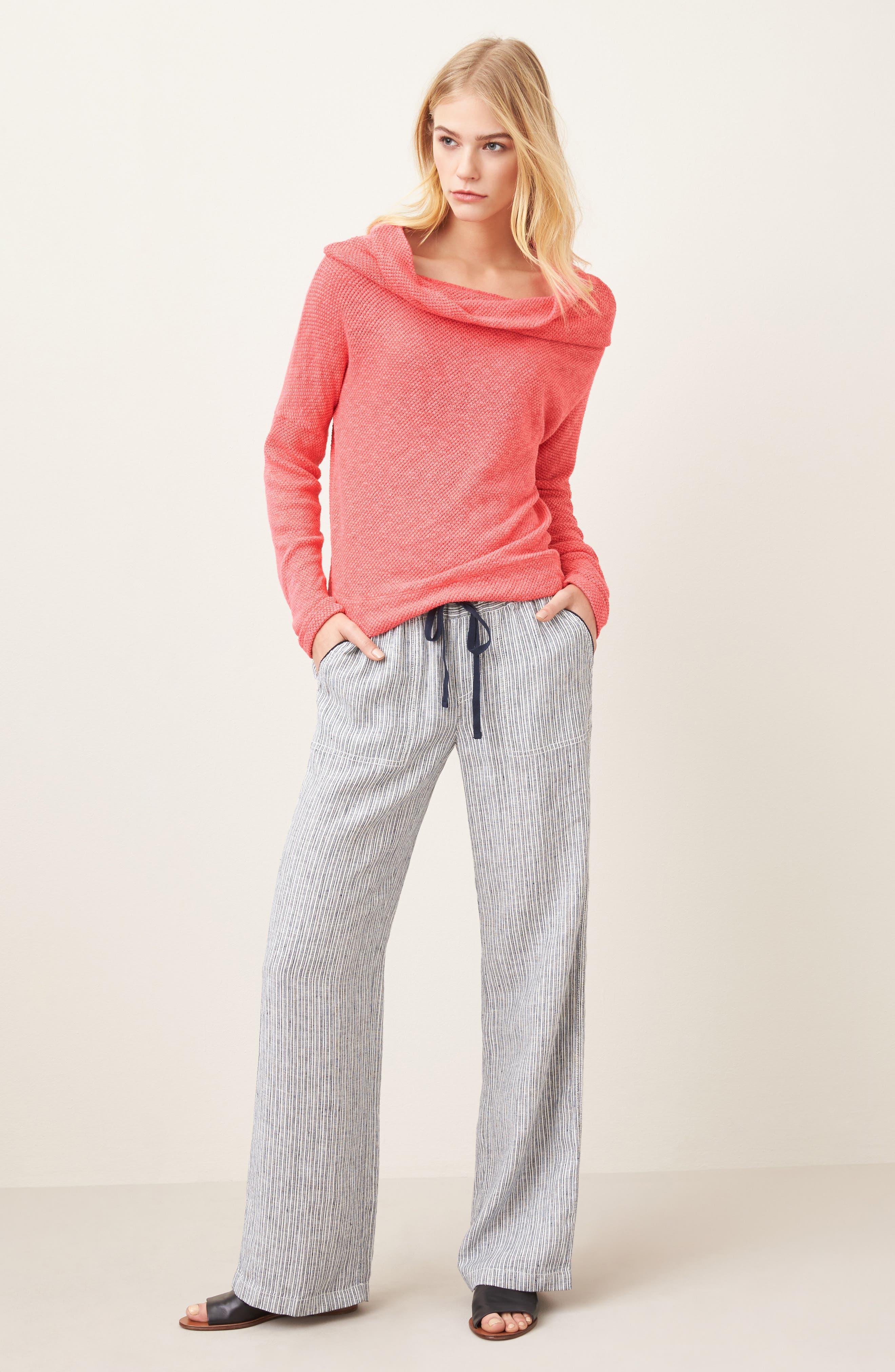 Convertible Neck Knit Pullover,                             Alternate thumbnail 2, color,                             Pink Ribbon