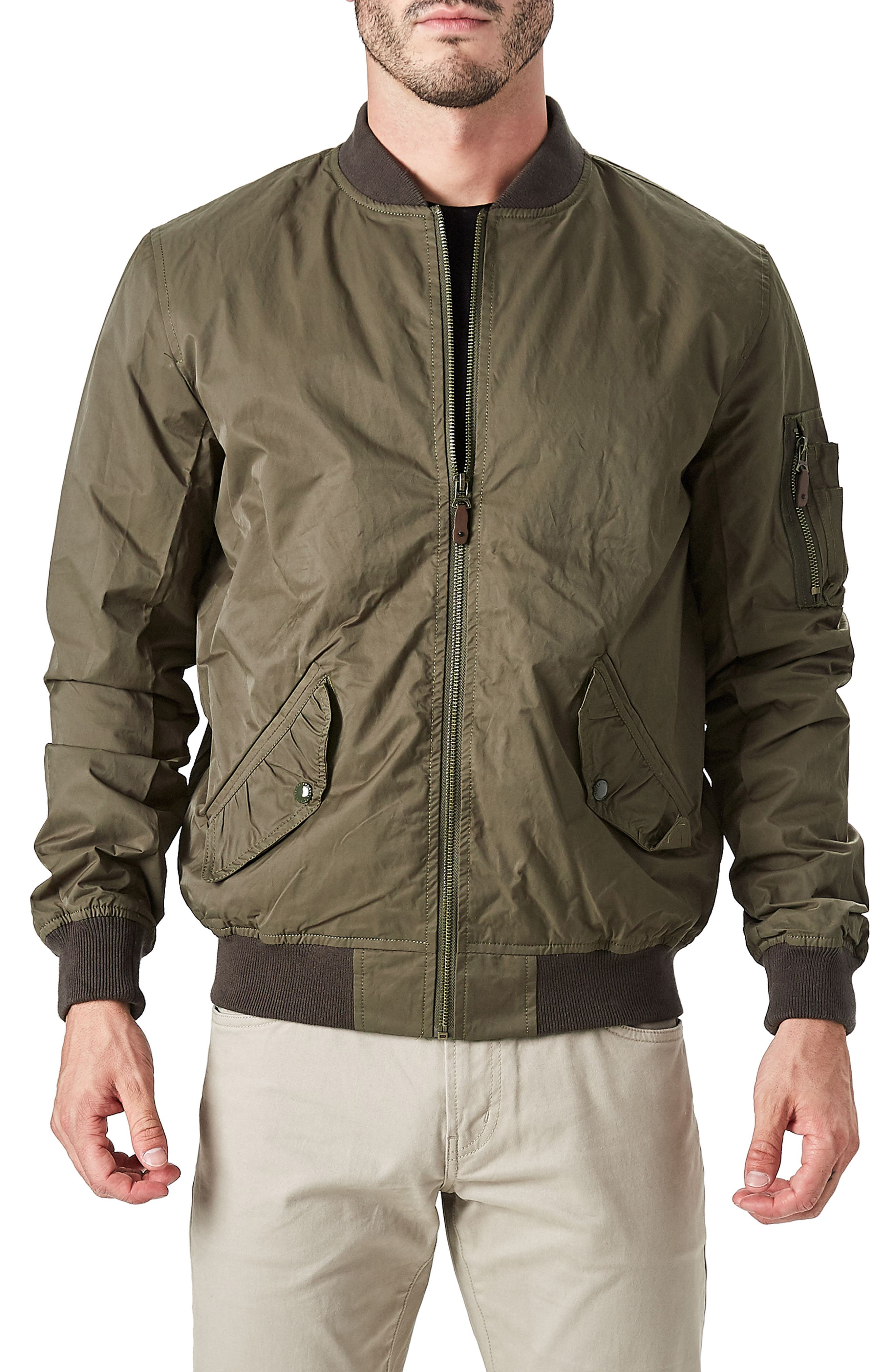 Maverick Bomber Jacket,                         Main,                         color, Khaki