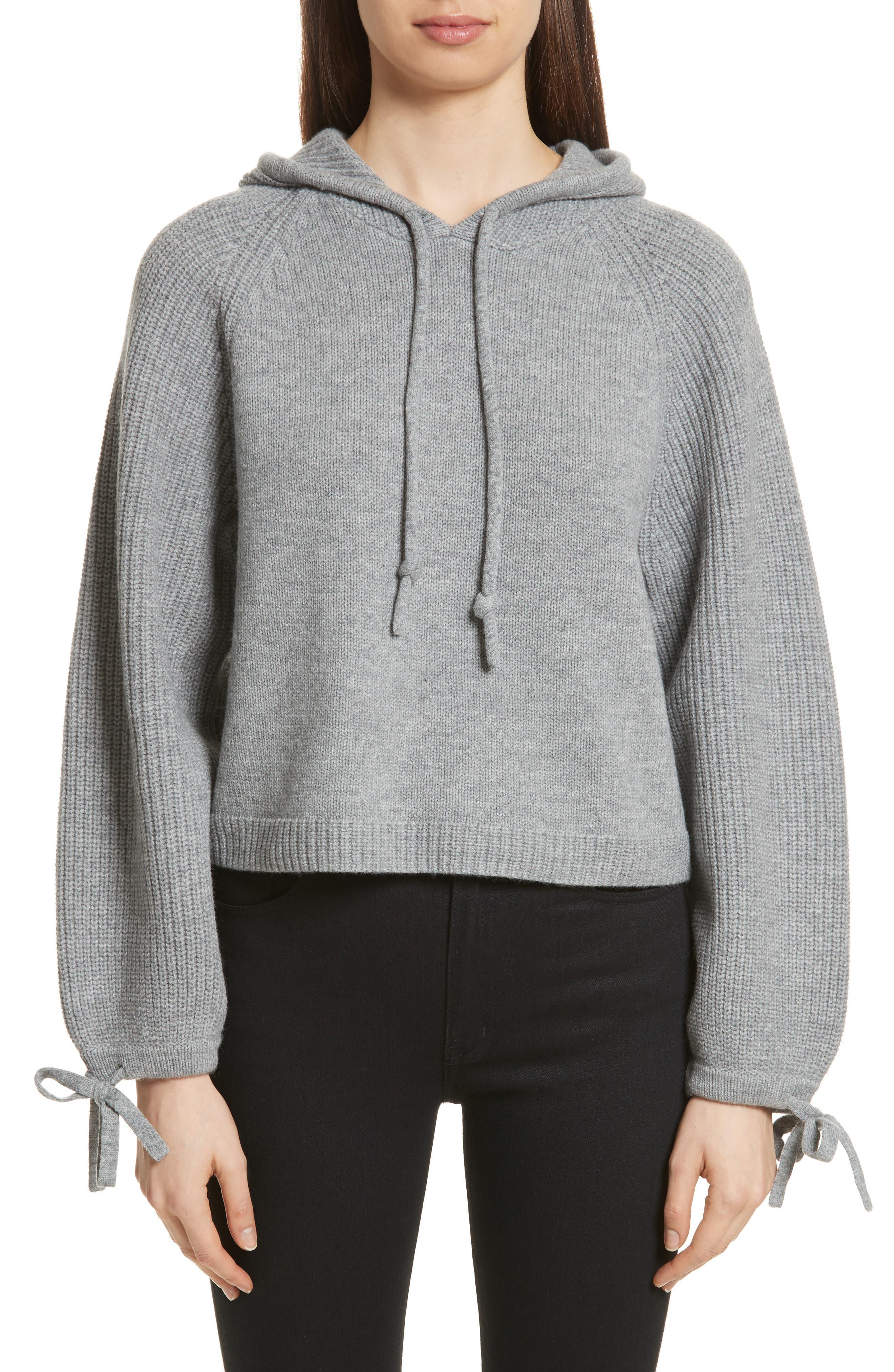 Babur Wool Hoodie,                         Main,                         color, Light Grey