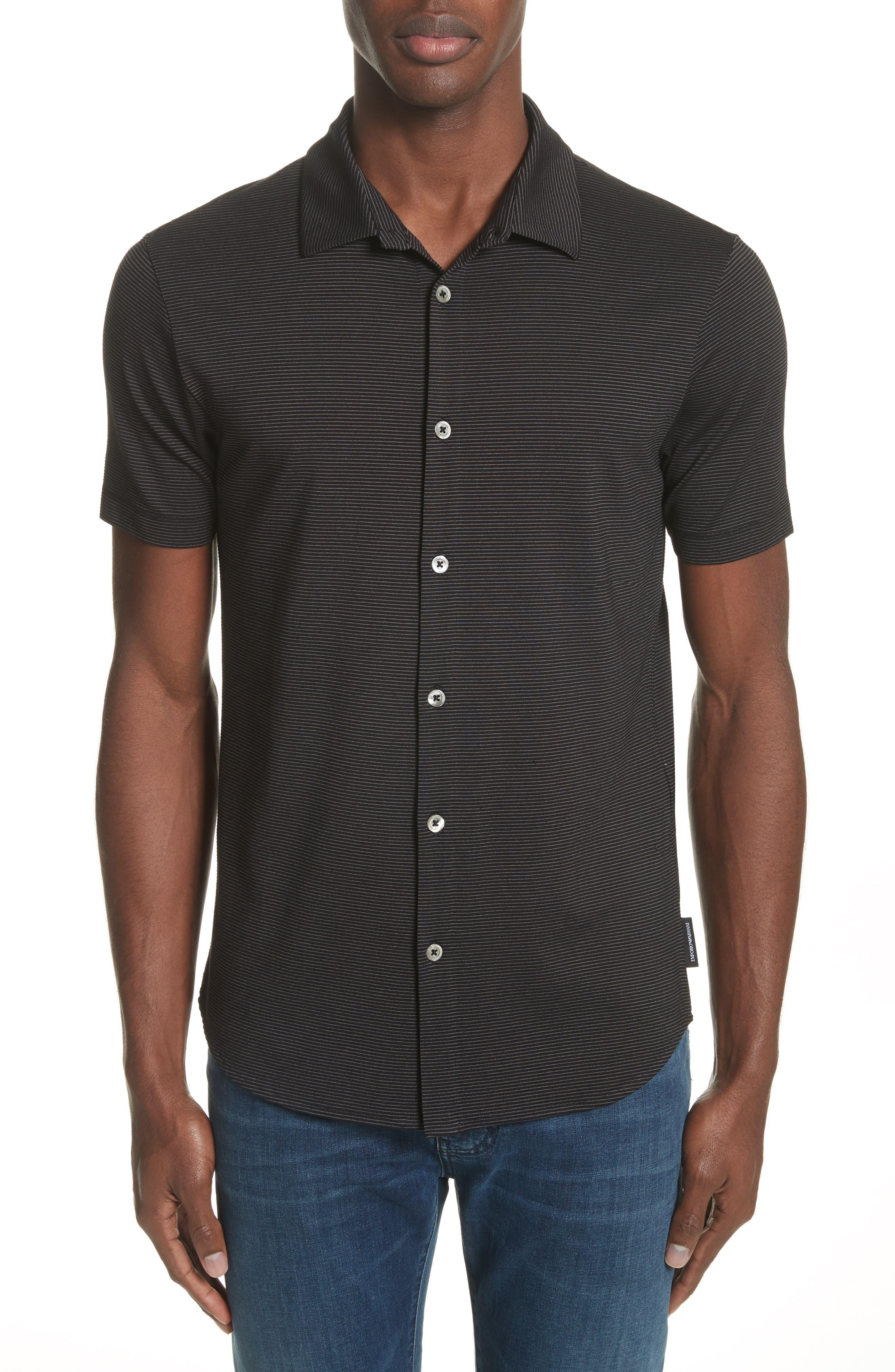 Emporio Armani Slim Fit Horizontal Stripe Shirt