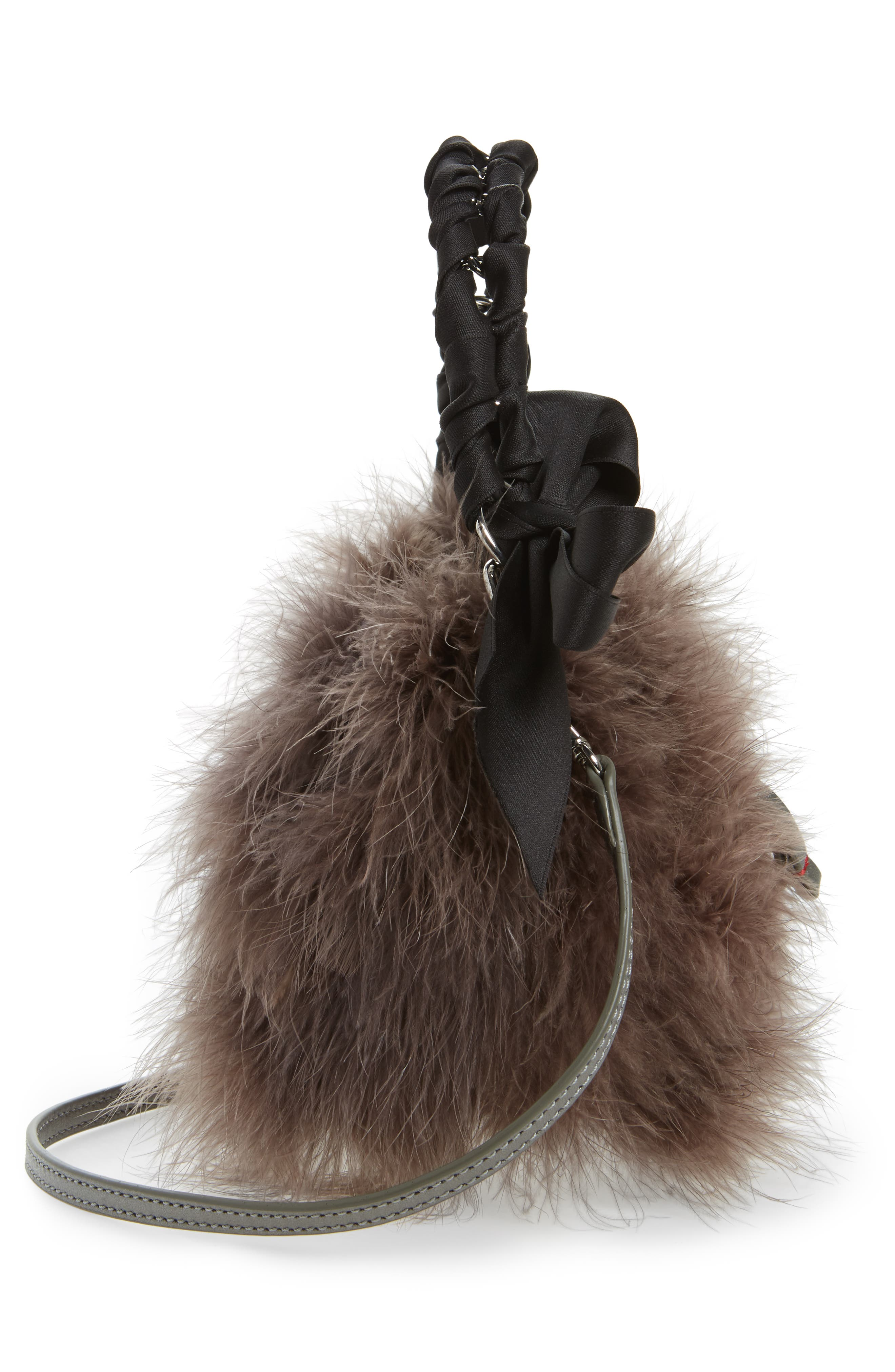 Alternate Image 5  - Frances Valentine Small Calfskin Leather & Feather Bucket Bag