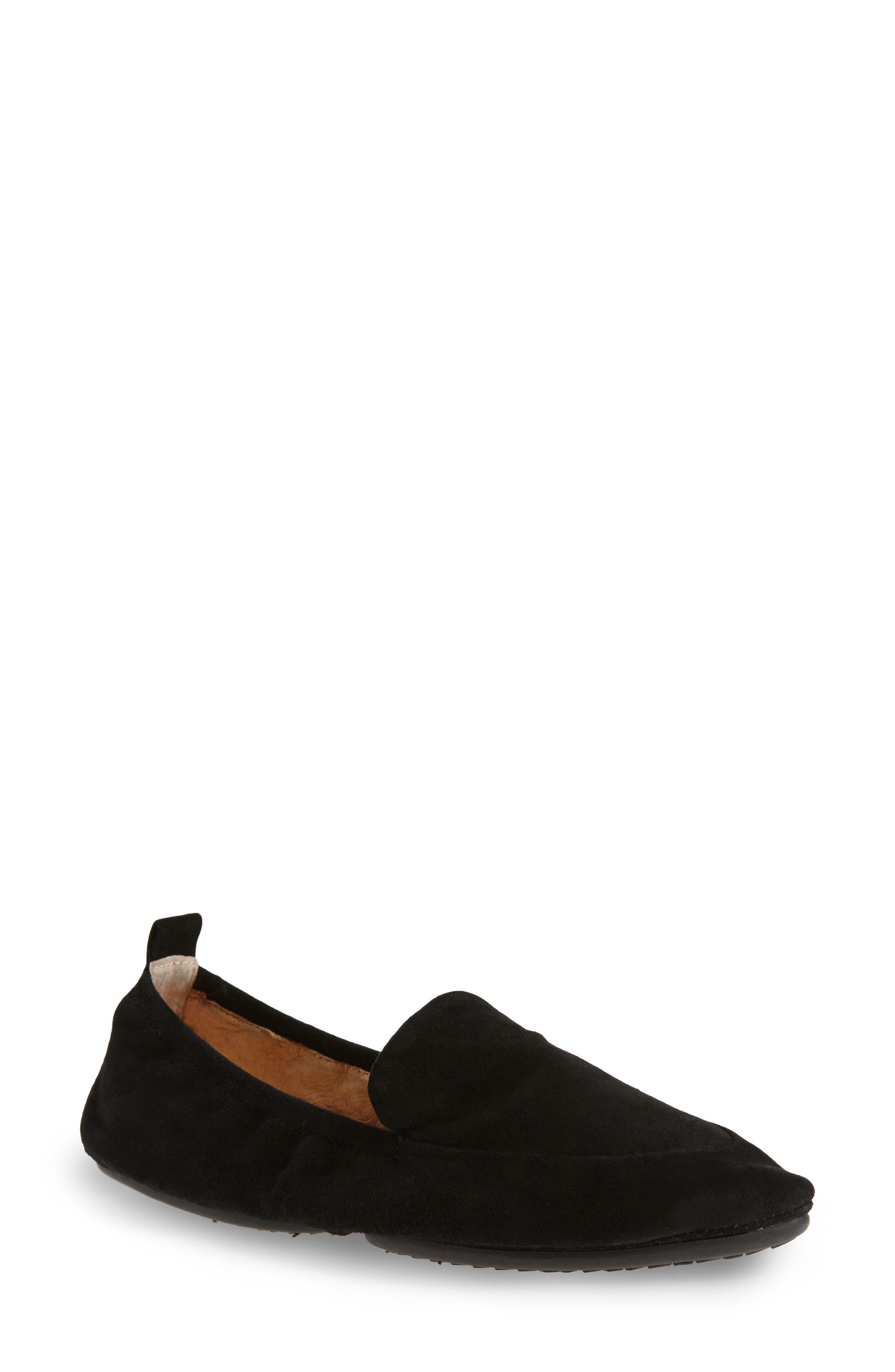 Skyler Foldable Flat,                         Main,                         color, Black Suede