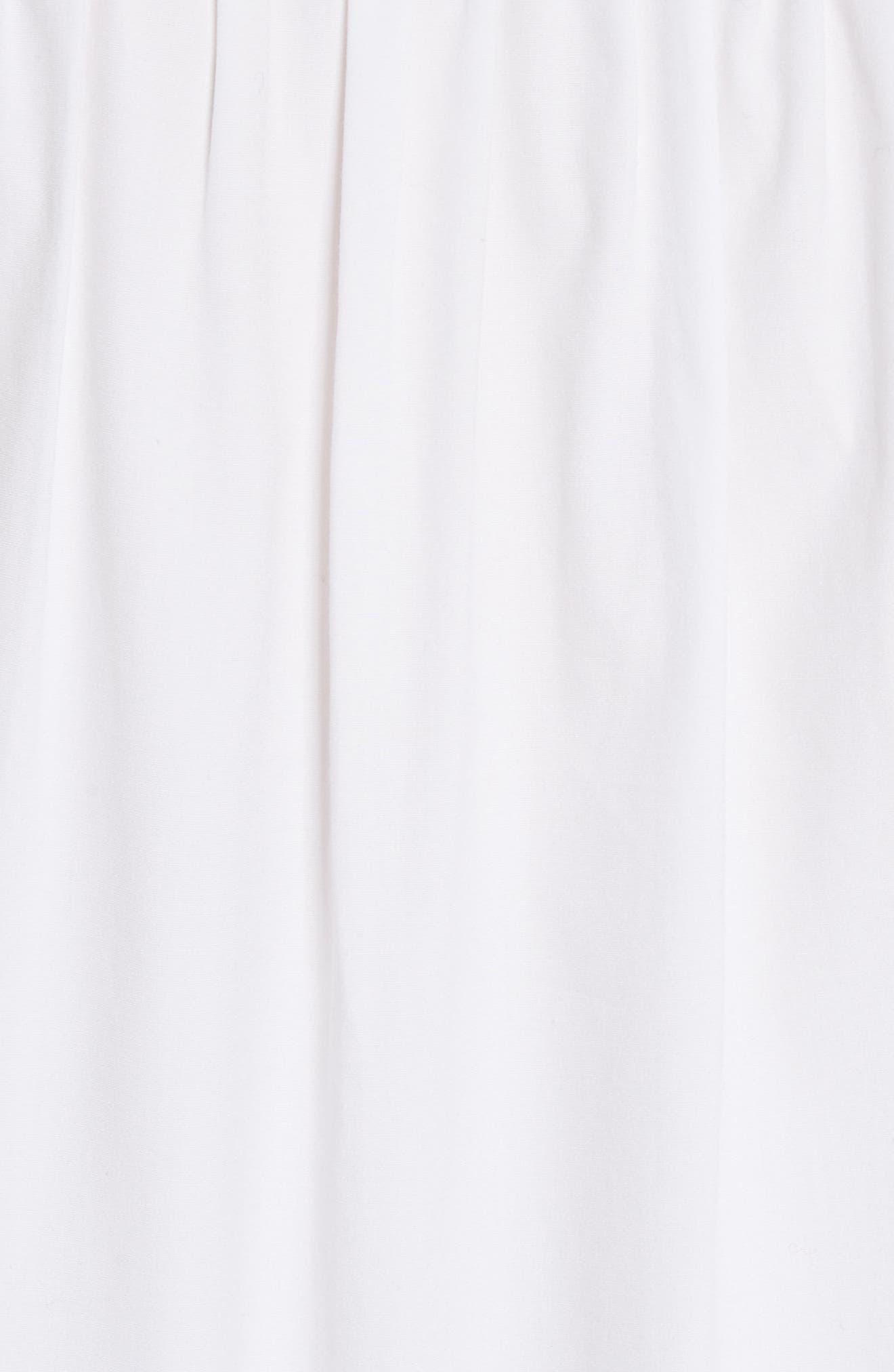 Sanaa Stretch Cotton Shirt,                             Alternate thumbnail 5, color,                             White