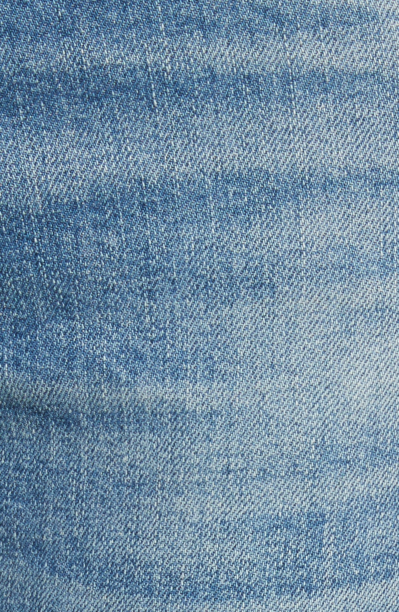 Ines Crop Girlfriend Jeans,                             Alternate thumbnail 6, color,                             Pipeline