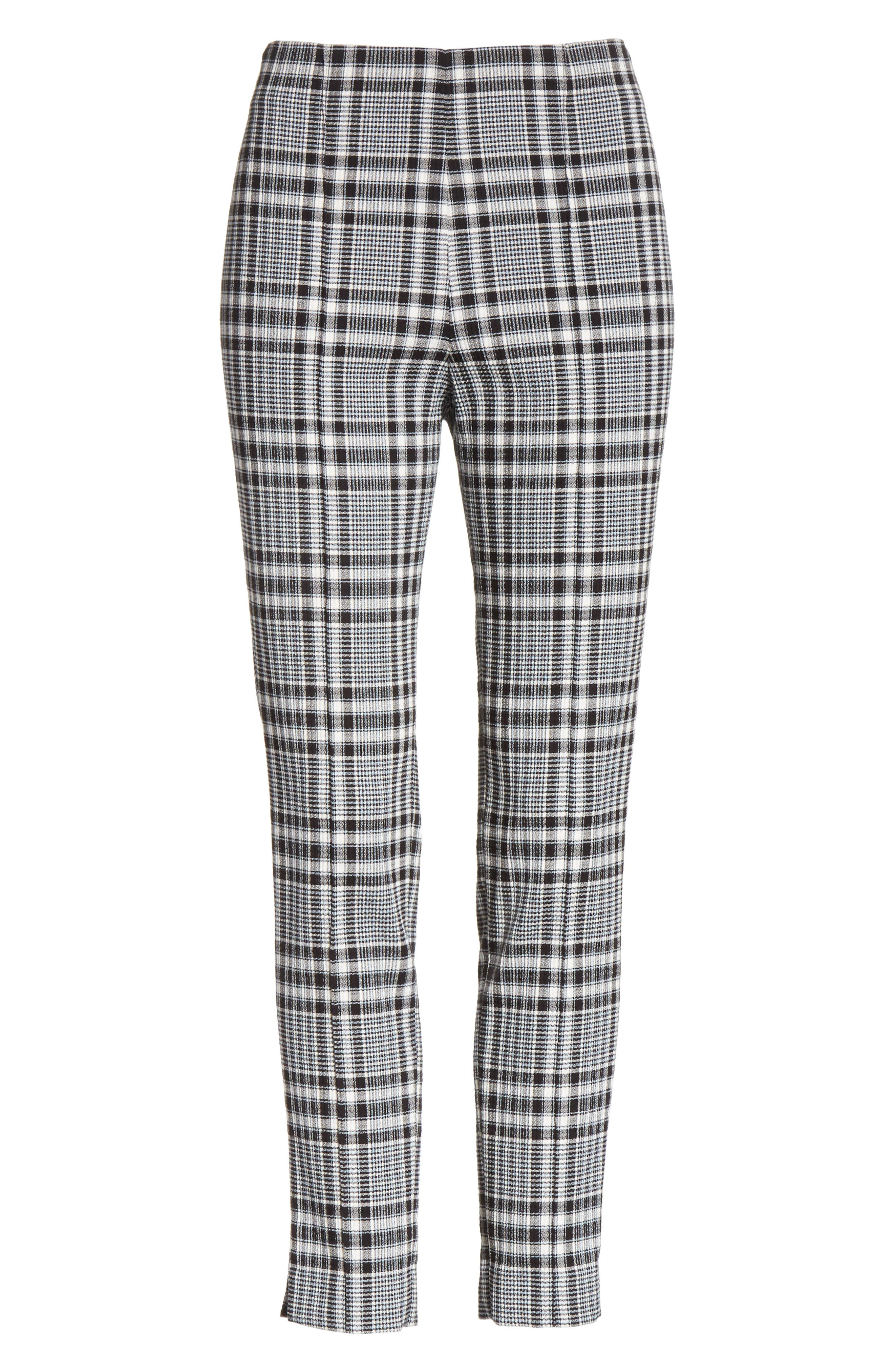 Honolulu Plaid Crop Pants,                             Alternate thumbnail 6, color,                             Black/ Blue