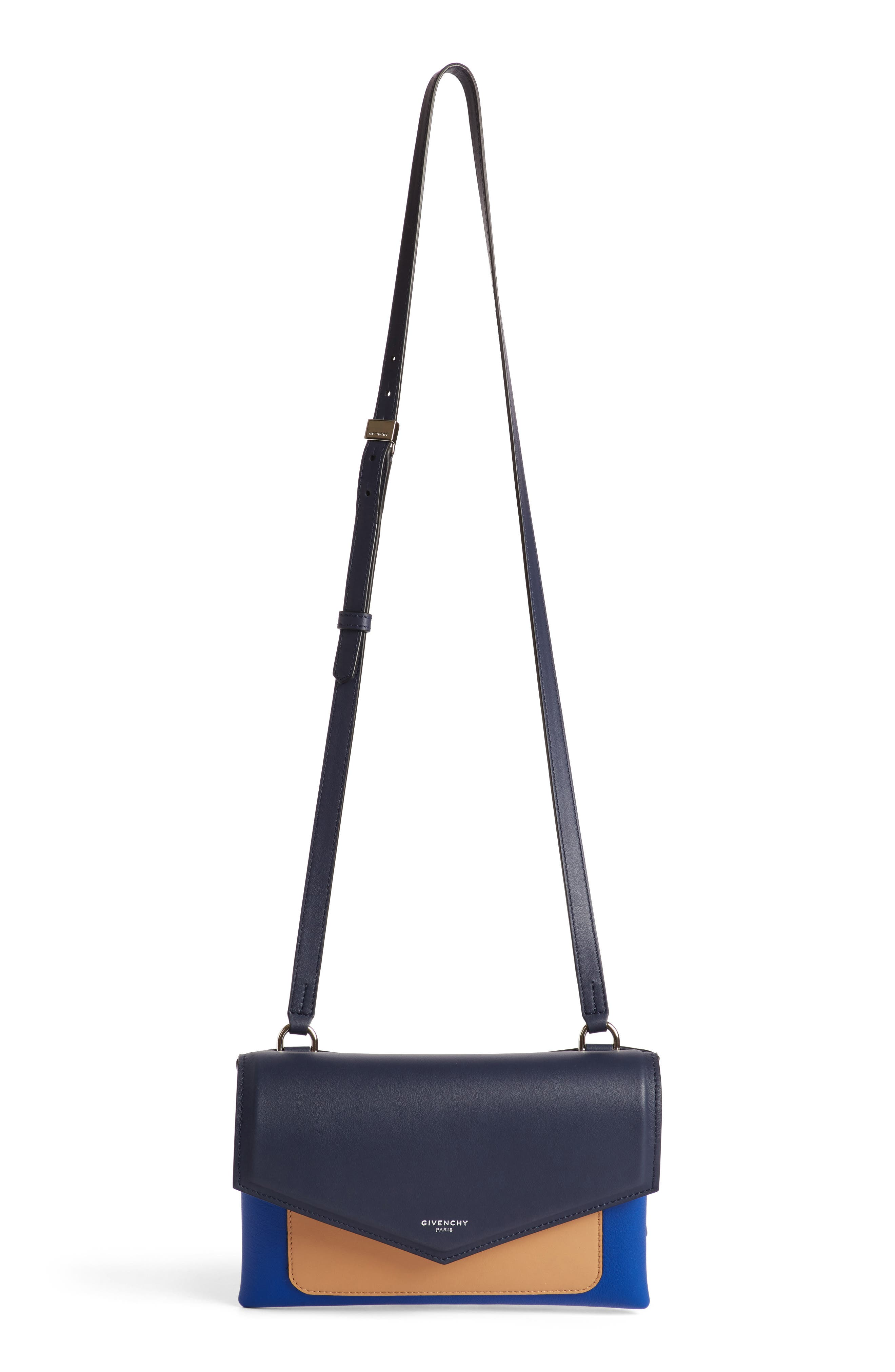 Givenchy Duetto Tricolor Leather Flap Crossbody Bag