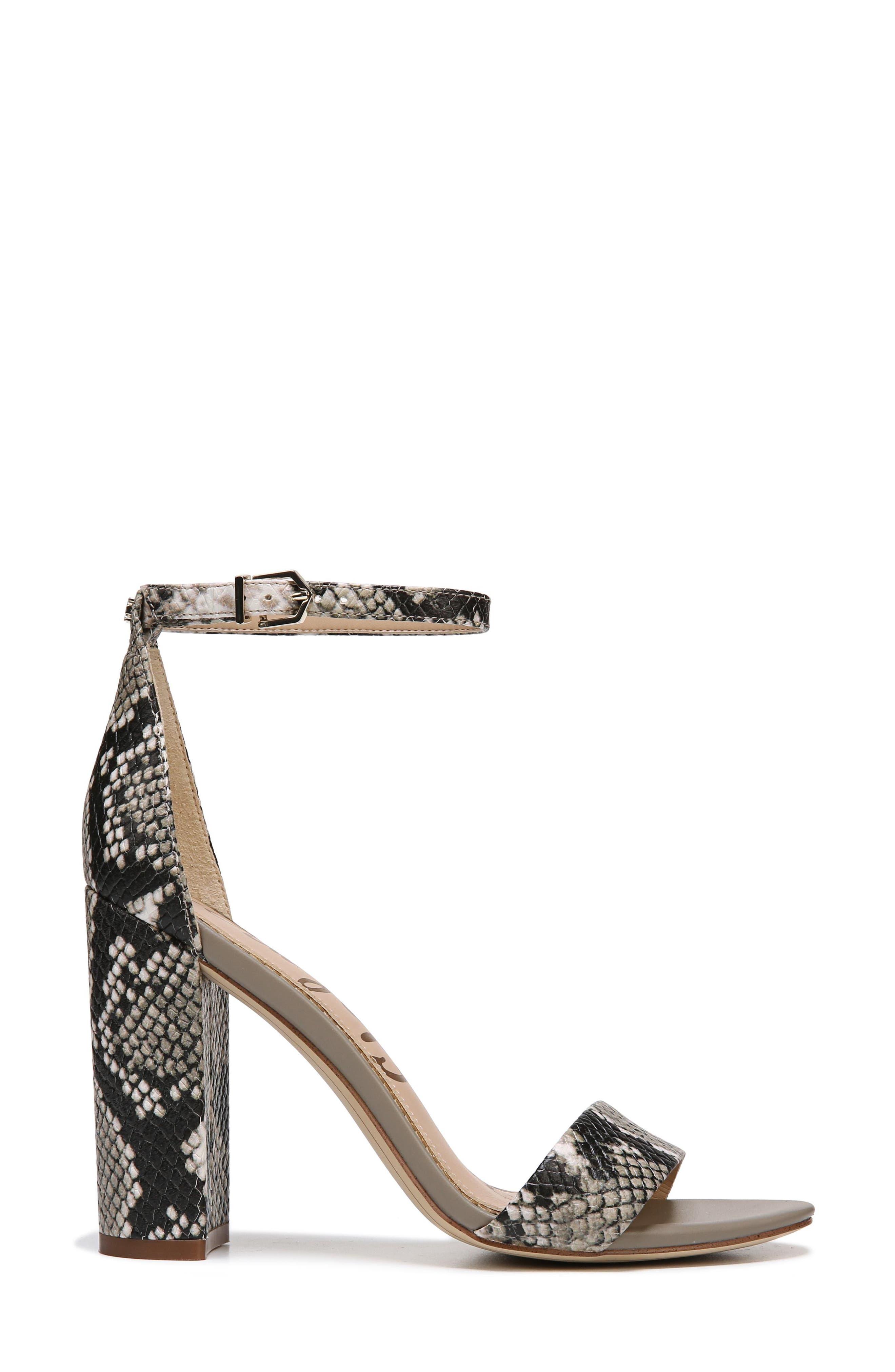 Yaro Ankle Strap Sandal,                             Alternate thumbnail 5, color,                             Natural Snake Print Leather