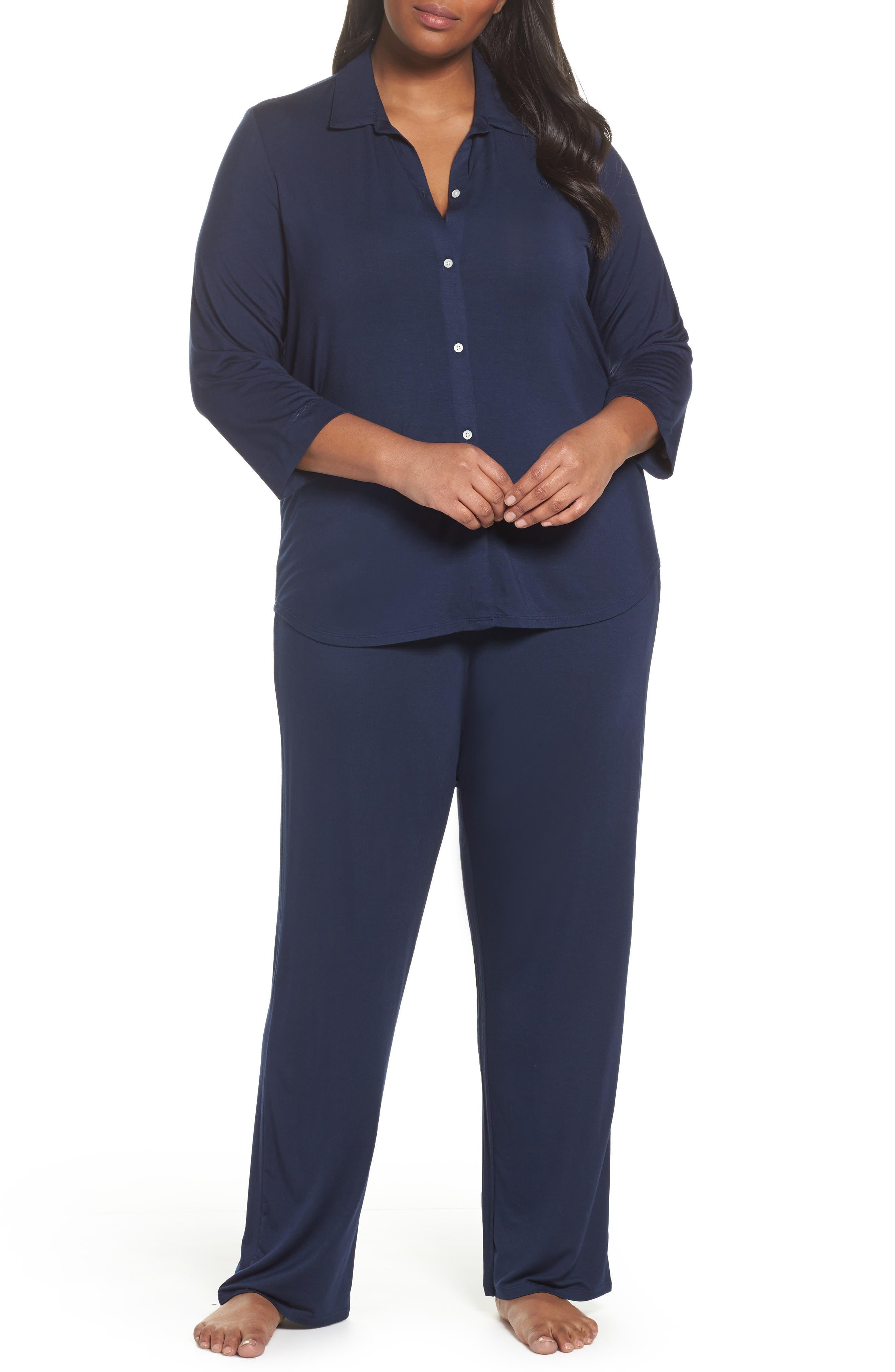Pajamas,                             Main thumbnail 1, color,                             Spring Navy