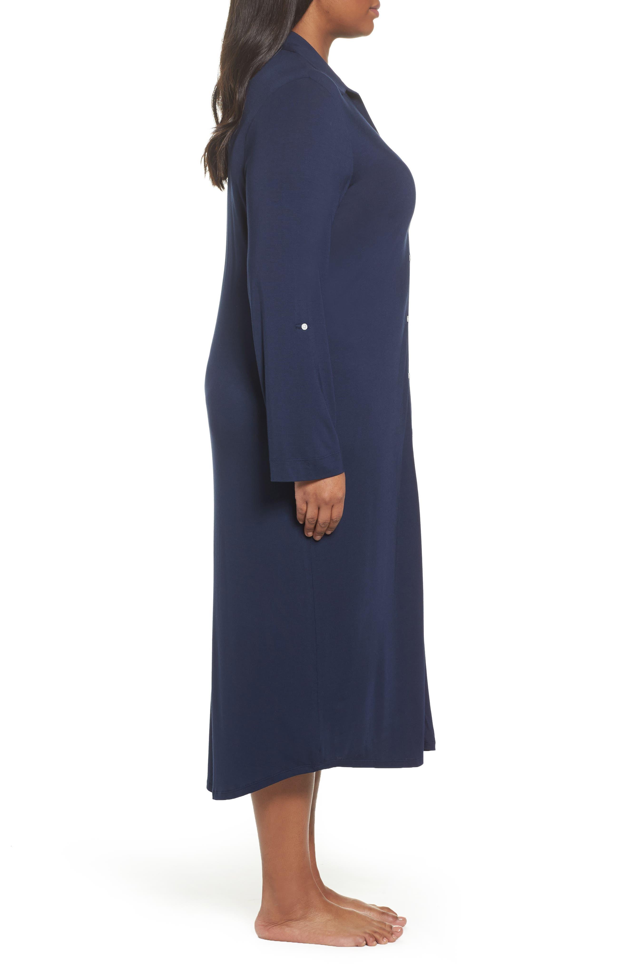 Alternate Image 3  - Lauren Ralph Lauren Long Nightshirt (Plus Size)