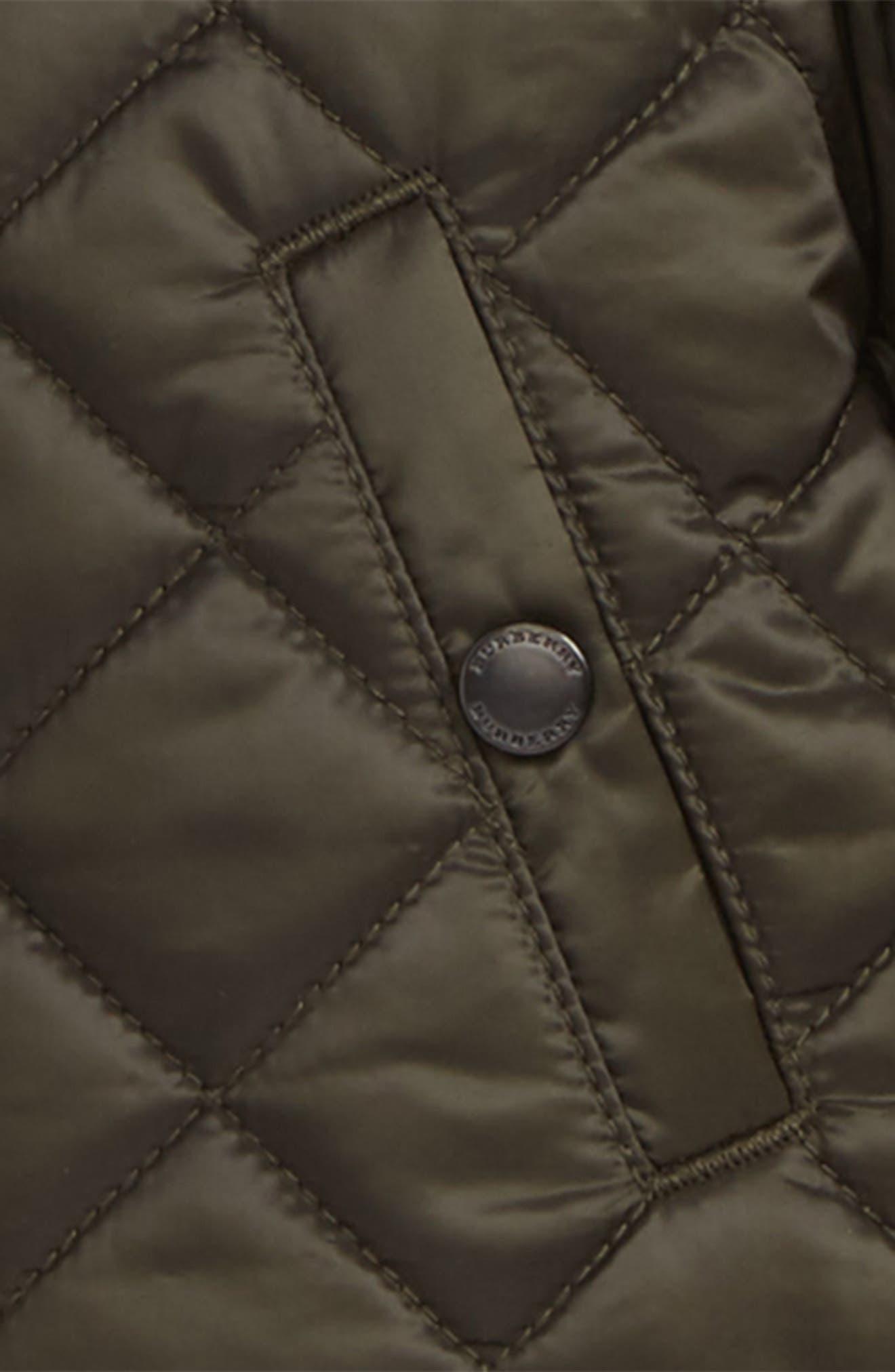 Alternate Image 2  - Burberry Mini Luke Quilted Jacket (Baby)