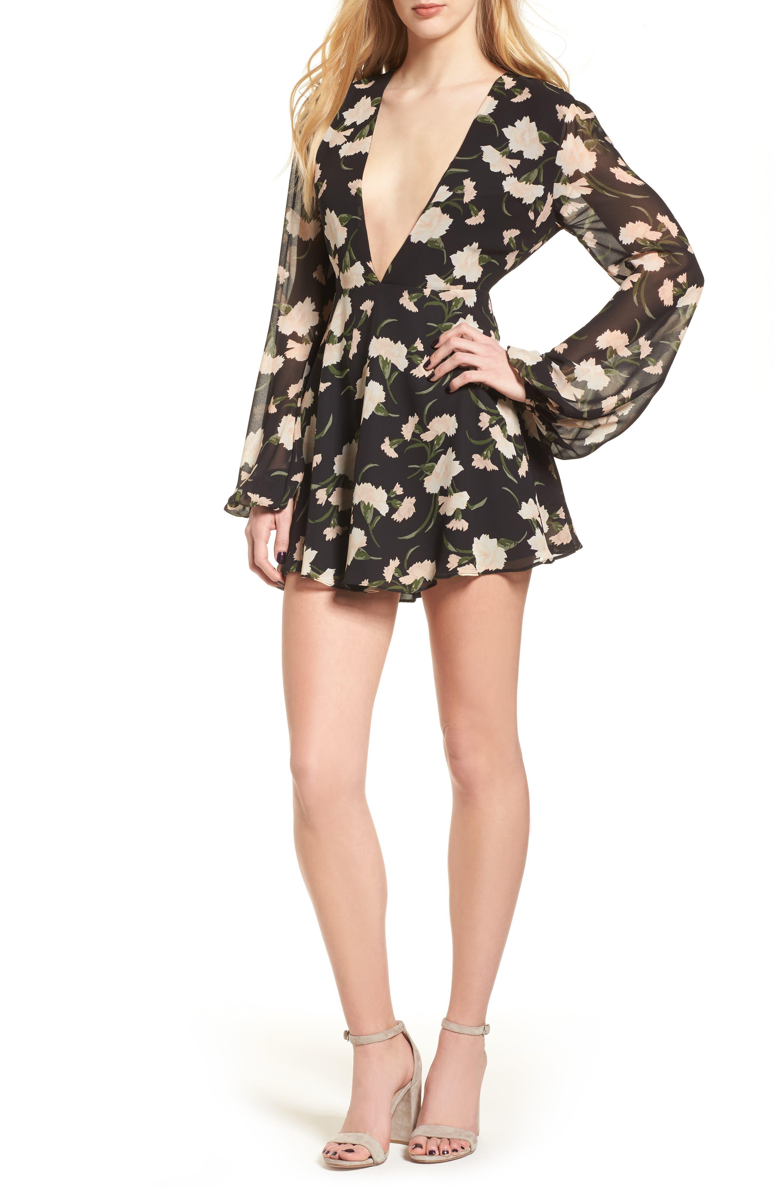 Hopes Minidress,                         Main,                         color, Shea Floral