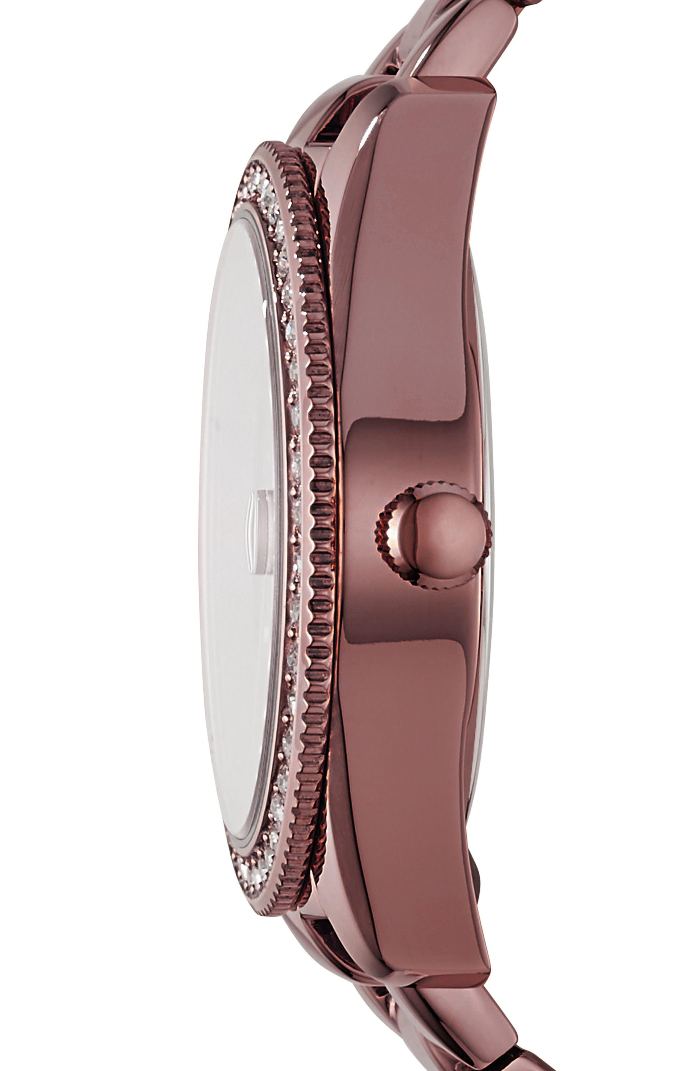 Scarlette Crystal Bracelet Watch, 32mm,                             Alternate thumbnail 2, color,                             Red