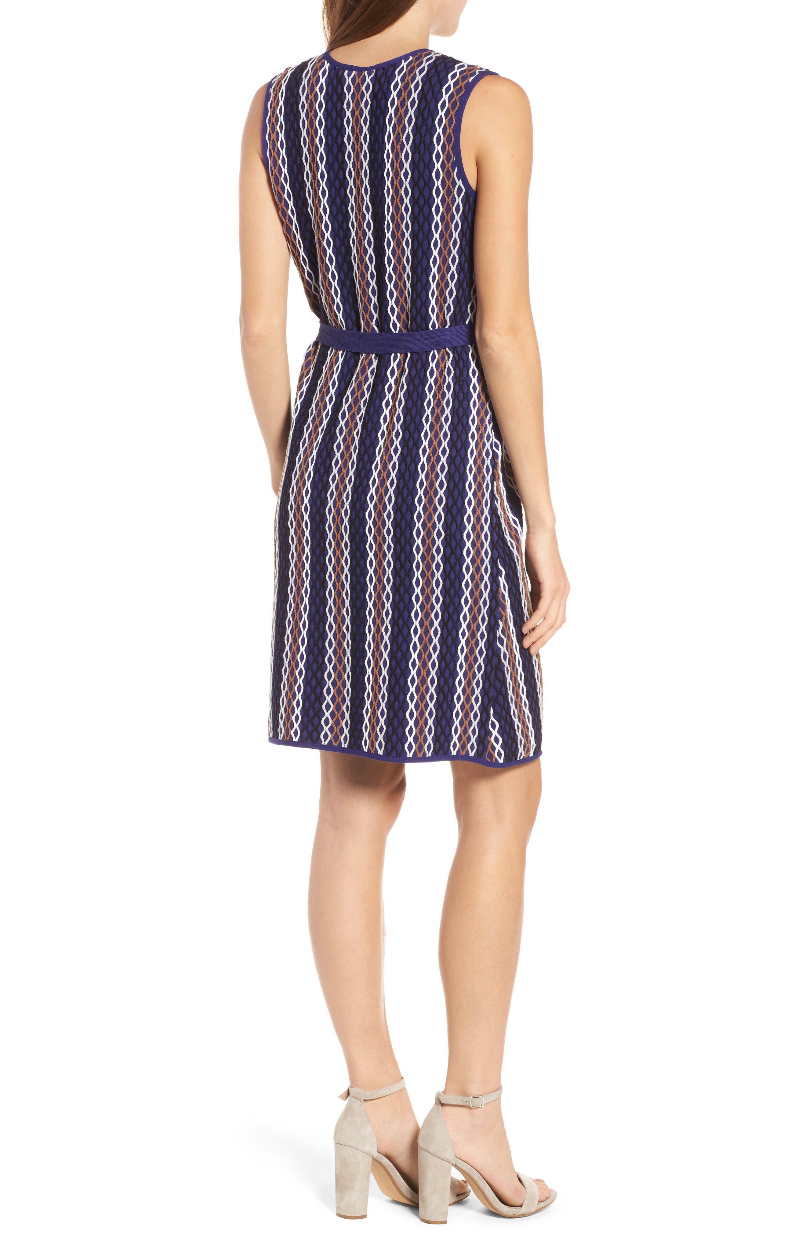 Squiggled Up Faux Wrap Dress,                             Alternate thumbnail 2, color,                             Multi