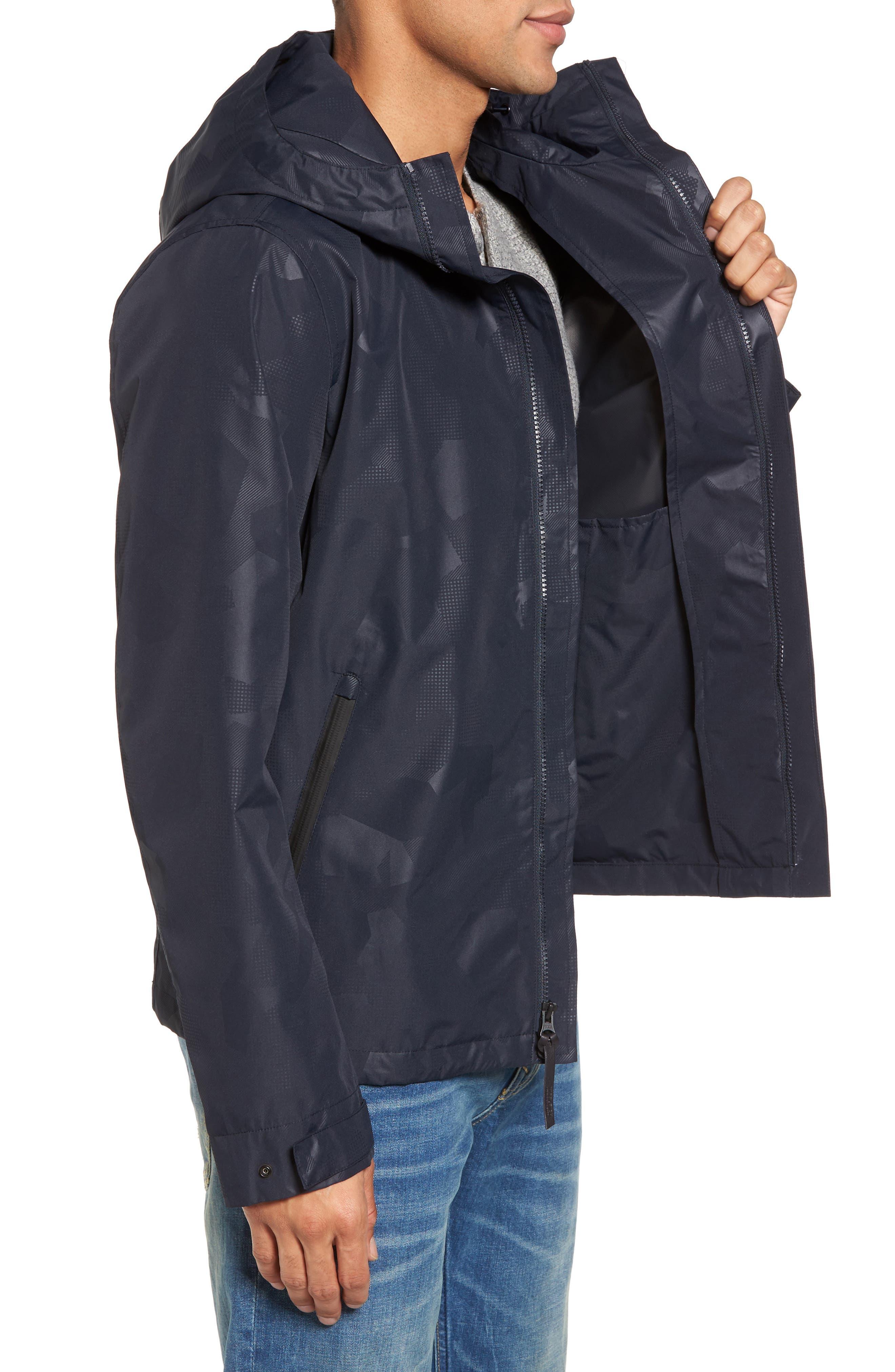 John Rich & Bros. Atlantic Camo Hooded Jacket,                             Alternate thumbnail 3, color,                             Melton Blue Camo