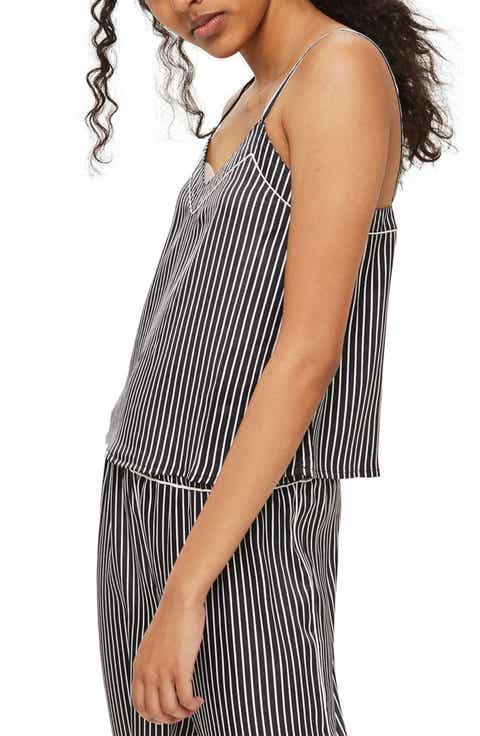 Topshop Stripe Satin Camisole Pajama Top Cheap