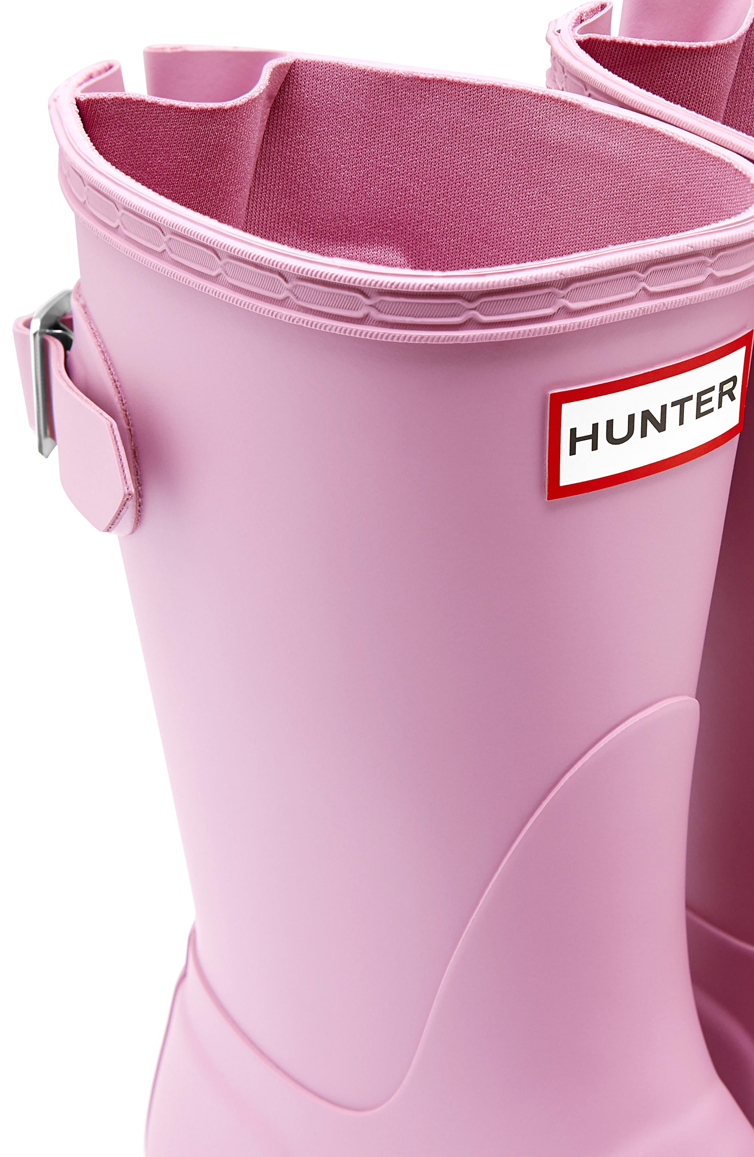Original Short Back Adjustable Rain Boot,                             Alternate thumbnail 4, color,                             Blossom