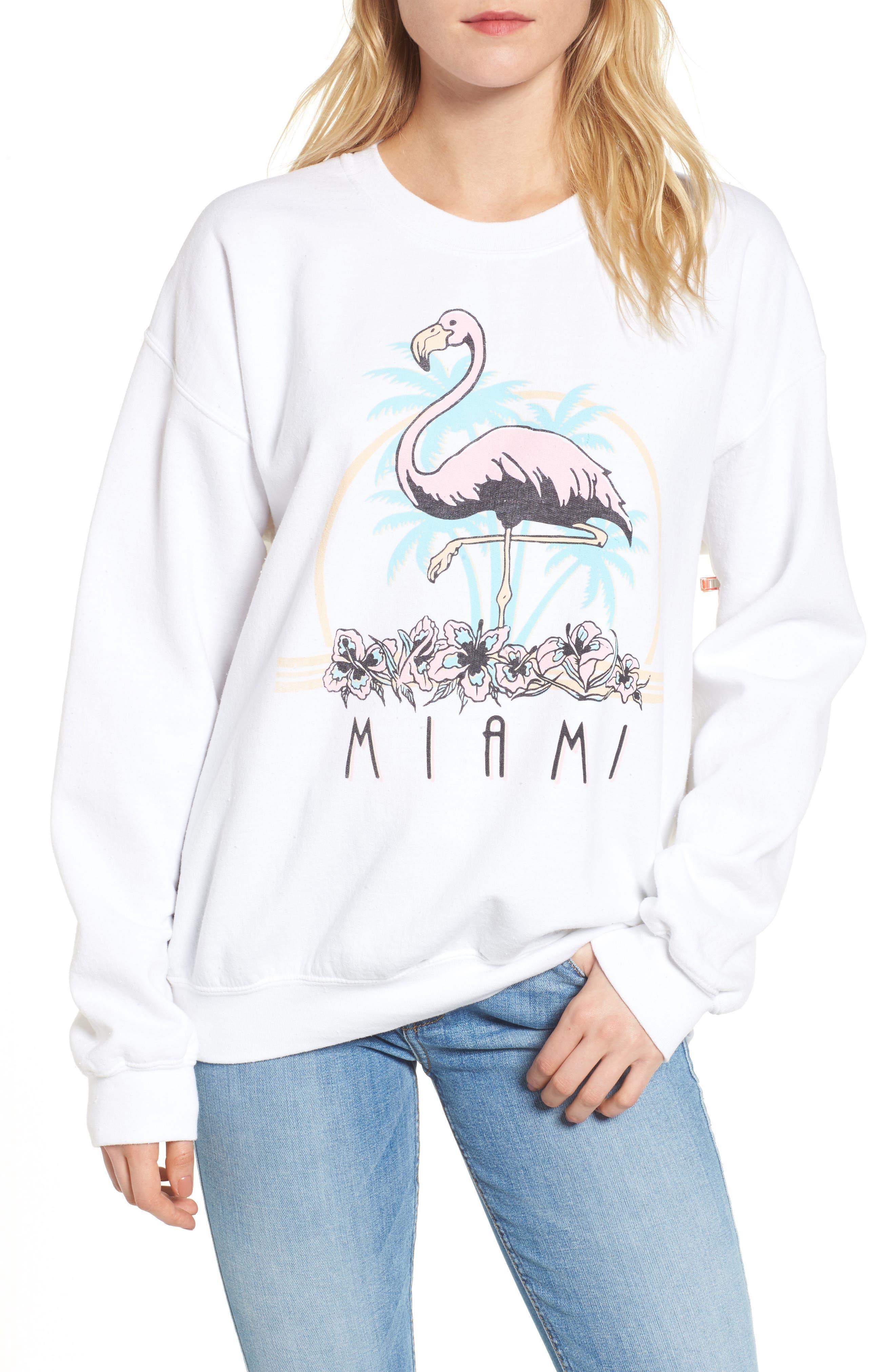 Miami Sweatshirt,                         Main,                         color, White