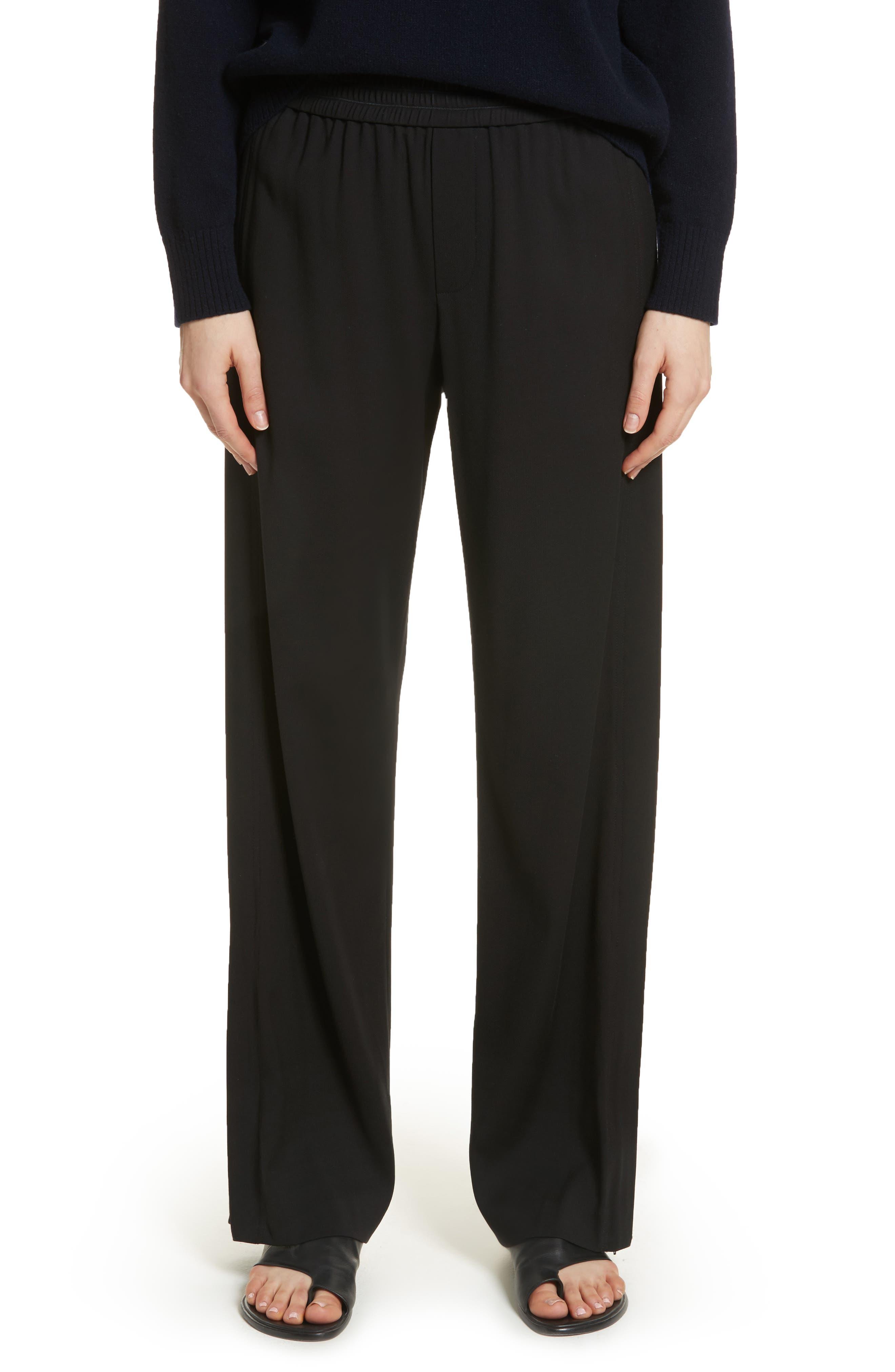 Ankle Zip Wide Leg Pants,                         Main,                         color, Black