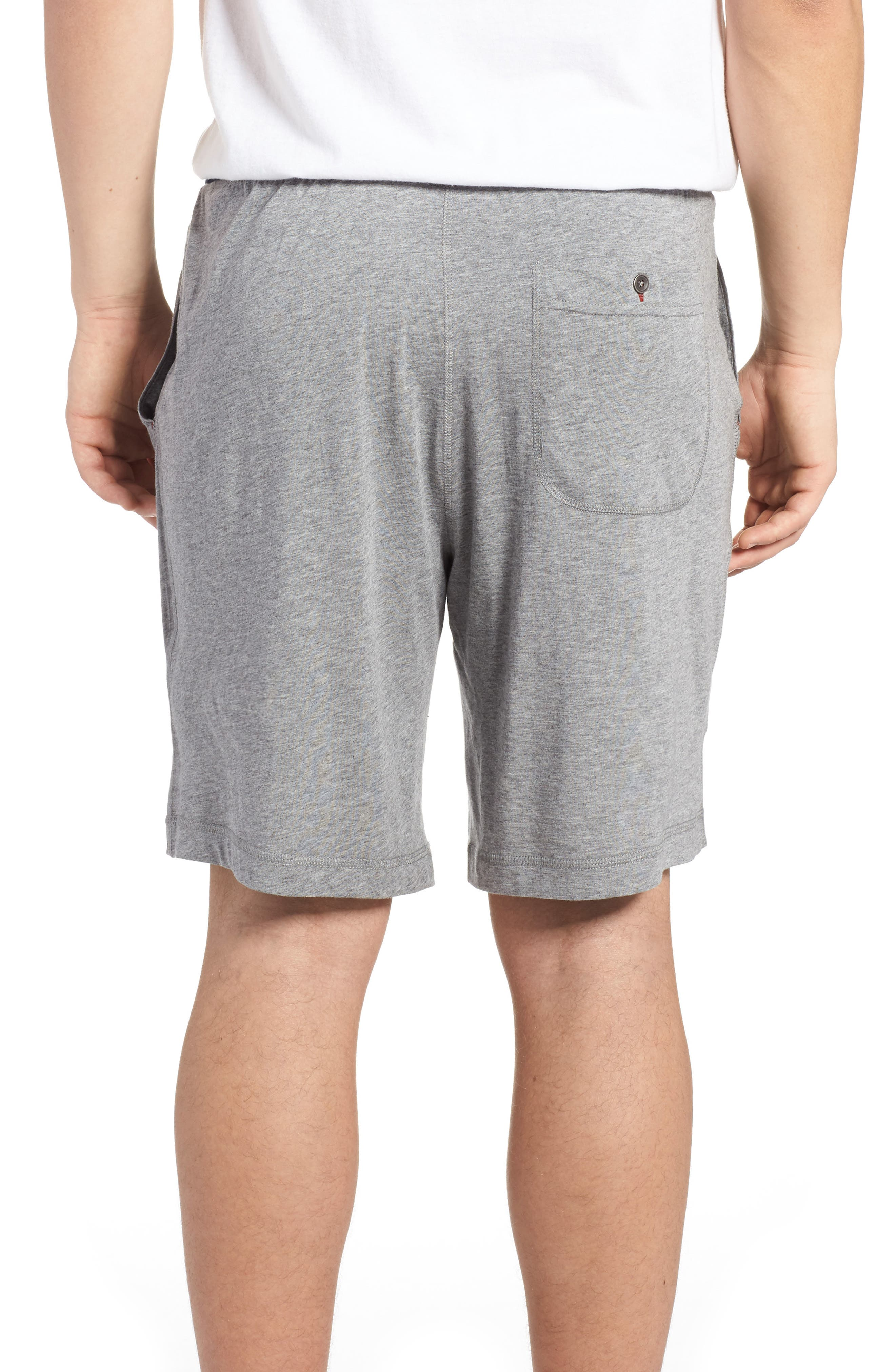 Pima Cotton & Modal Lounge Shorts,                             Alternate thumbnail 2, color,                             Grey Heather