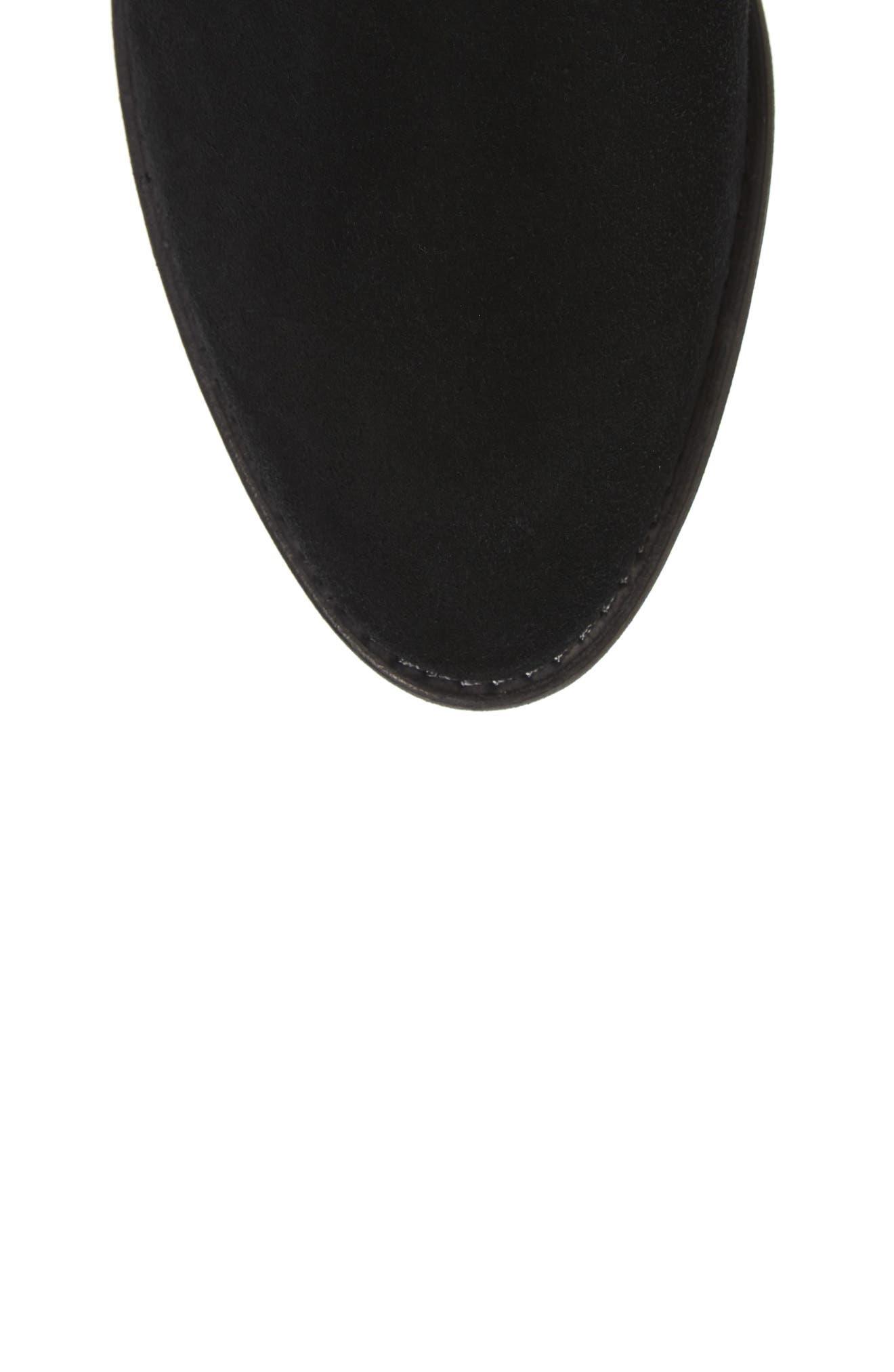 Original Refined Water Resistant Chelsea Boot,                             Alternate thumbnail 5, color,                             Black Suede