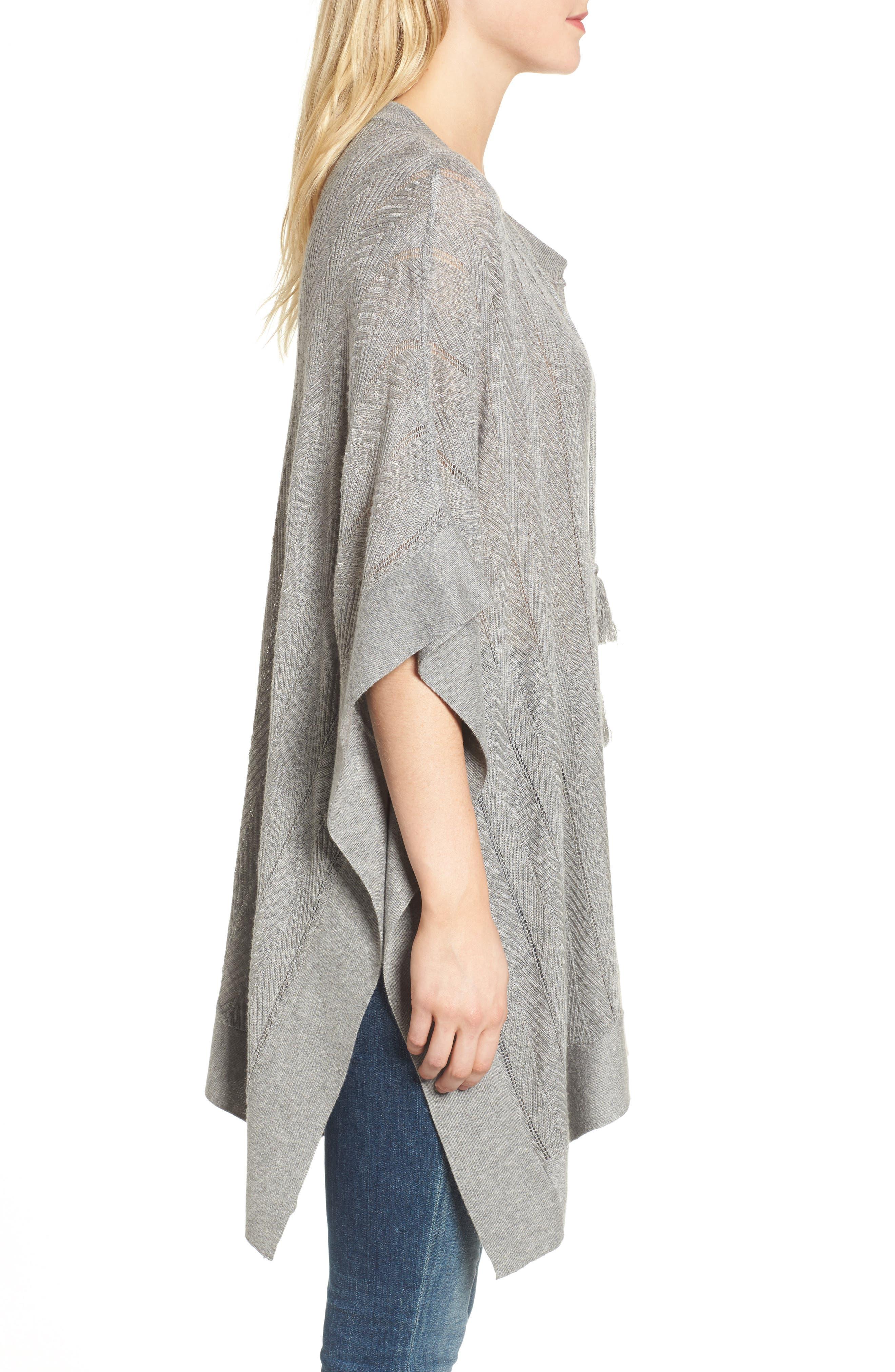 Alternate Image 3  - Splendid Pebble Poncho Sweater
