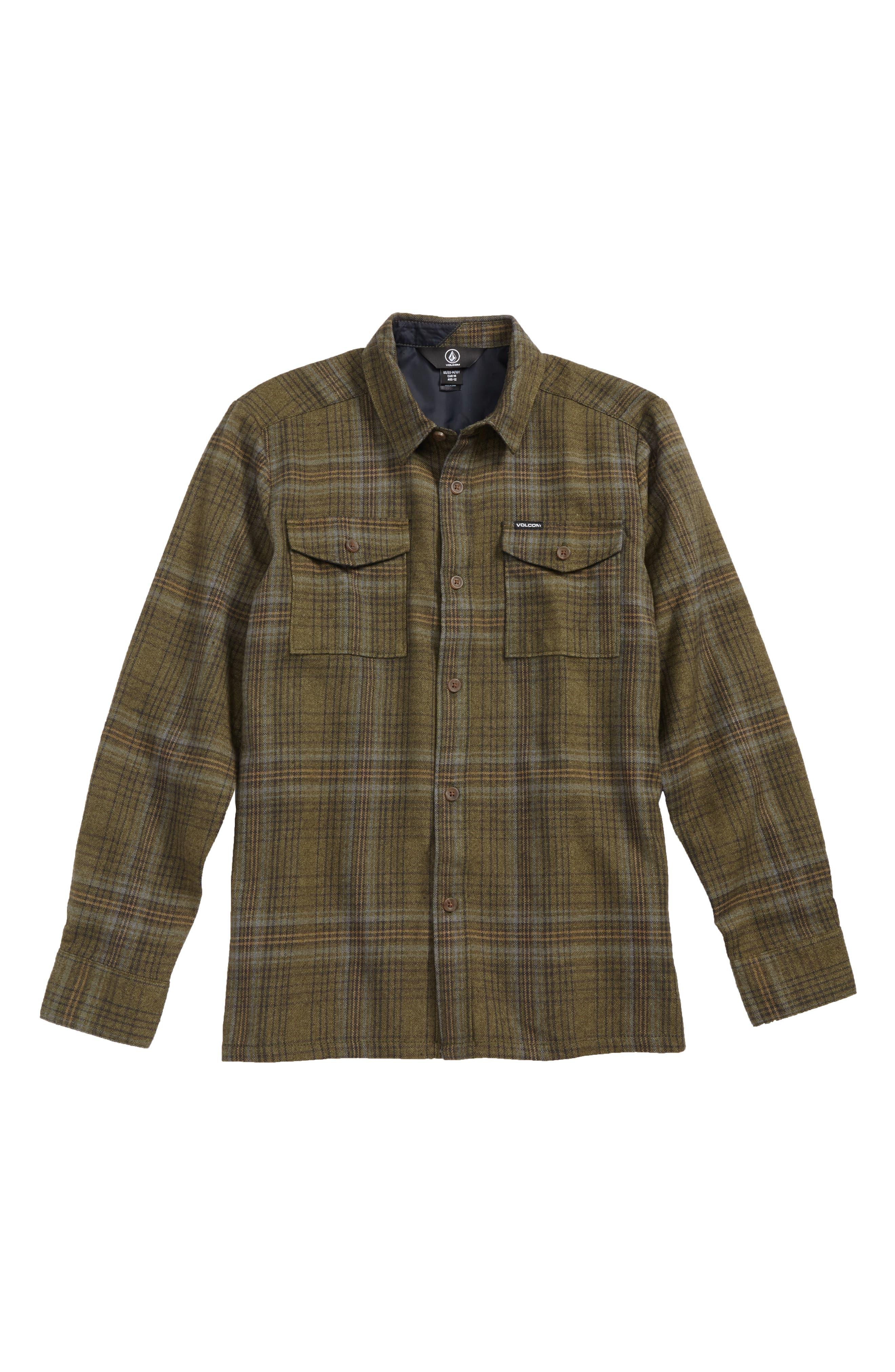 Main Image - Volcom Bodhi Plaid Flannel (Big Boys)