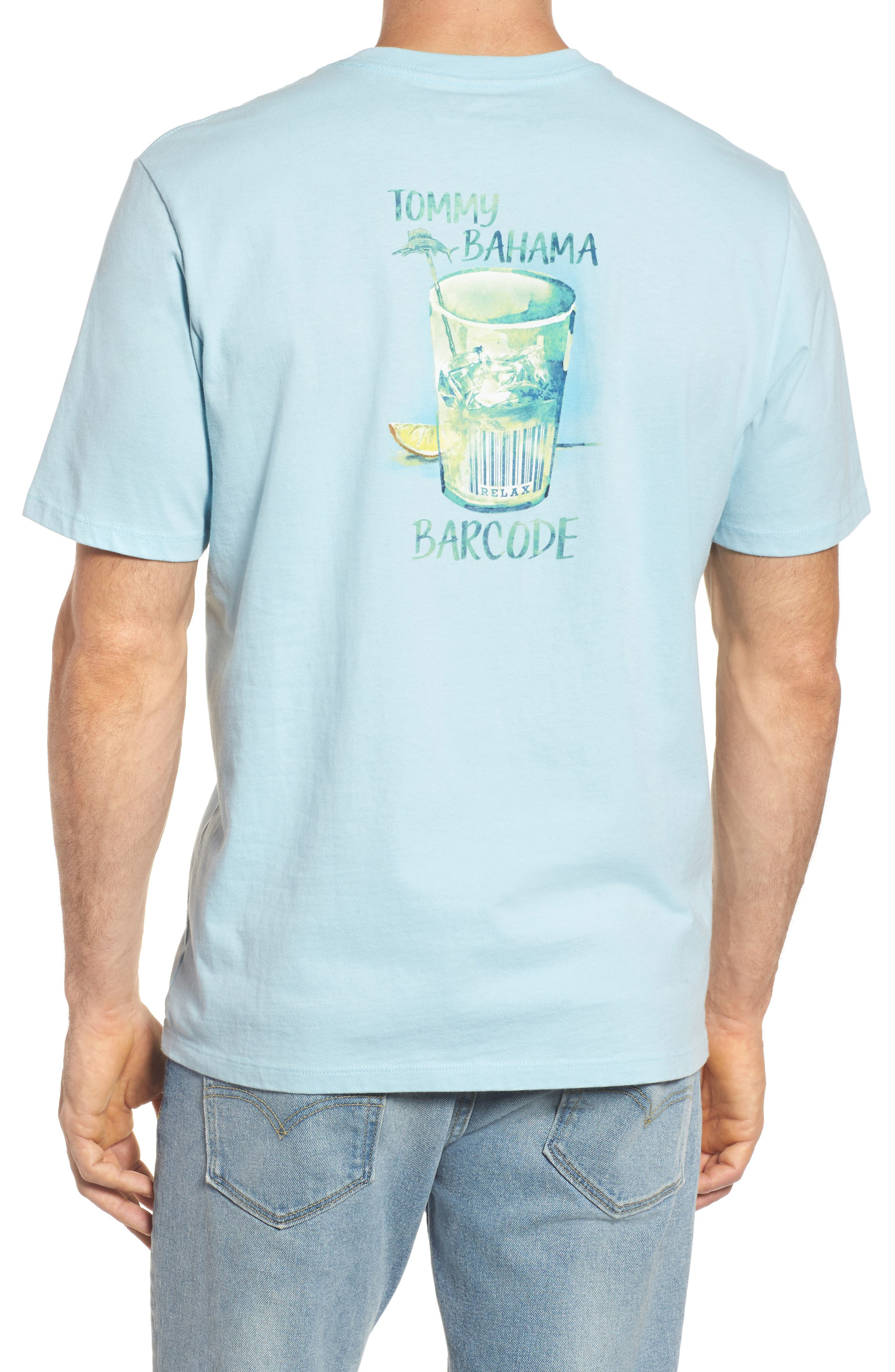 Barcode Graphic T-Shirt,                             Main thumbnail 1, color,                             Opal
