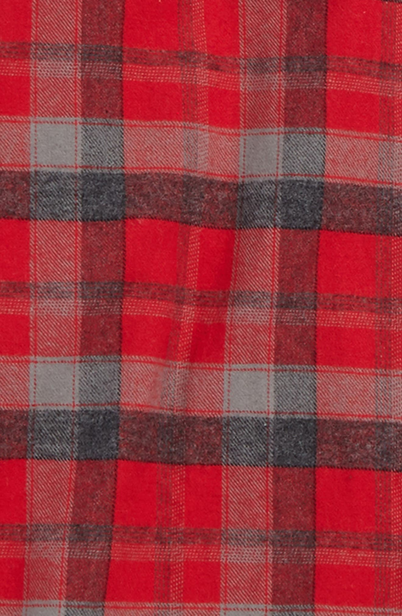 Alternate Image 2  - Volcom Caden Plaid Flannel Shirt (Toddler Boys, Little Boys & Big Boys)
