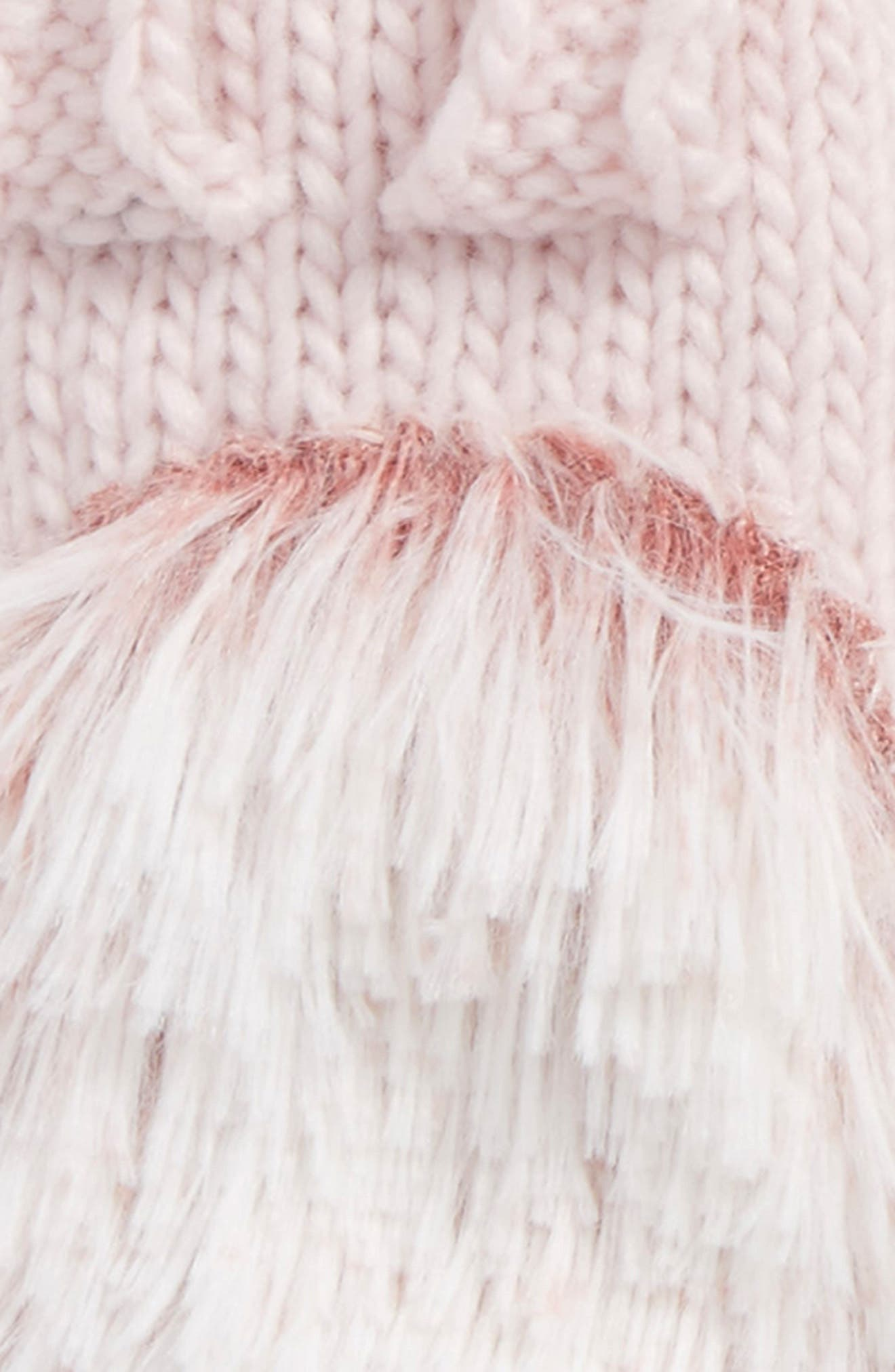 Porcupine Mittens,                             Alternate thumbnail 2, color,                             Blush Pink