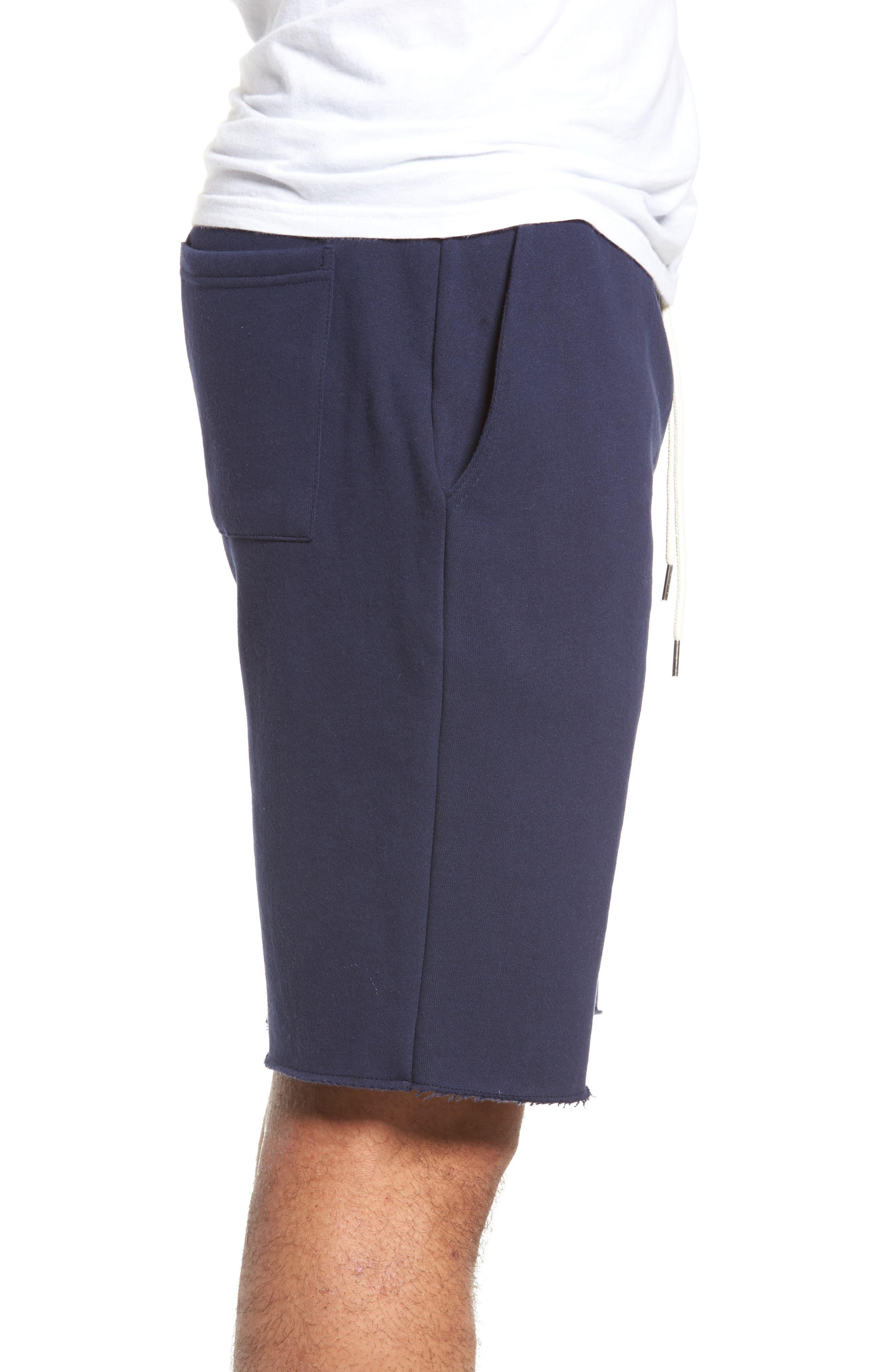 Fleece Shorts,                             Alternate thumbnail 3, color,                             Navy Peacoat
