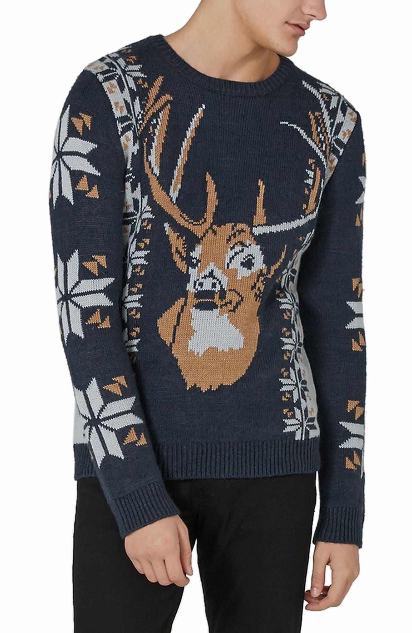 Topman Vintage Stag Sweater