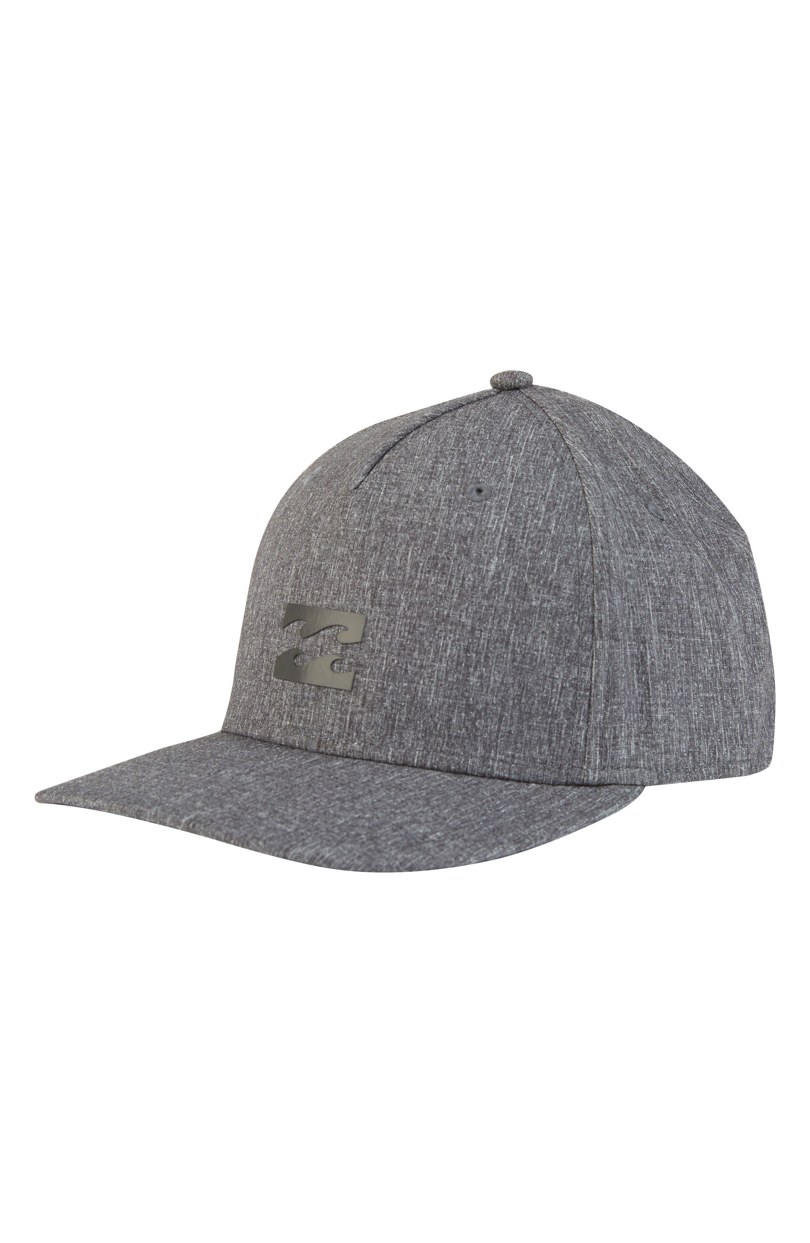 Airlite Stretch Baseball Cap,                         Main,                         color, Black Heather